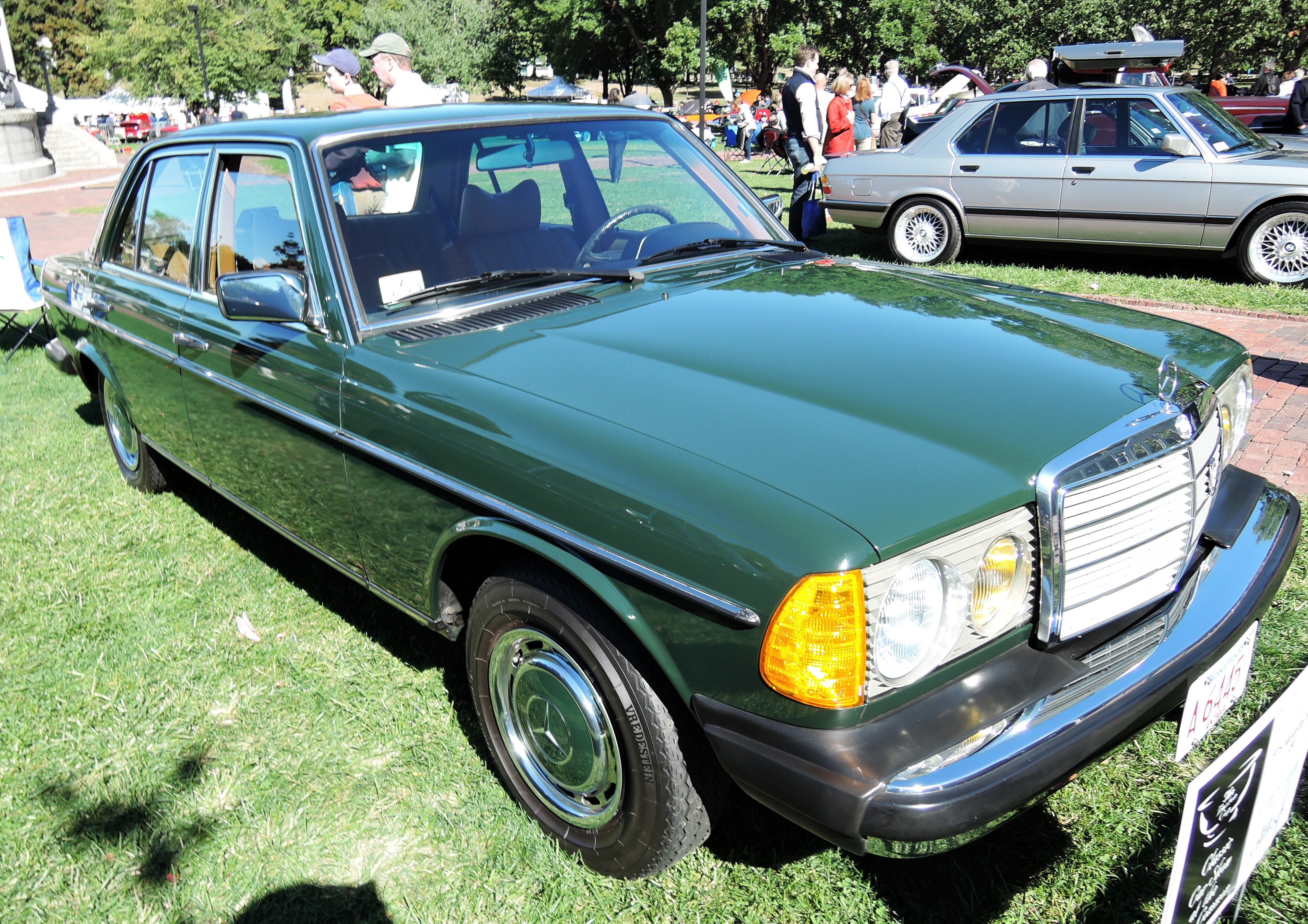 green 1978 Mercedes-Benz 230 - The Boston Cup on Boston Common