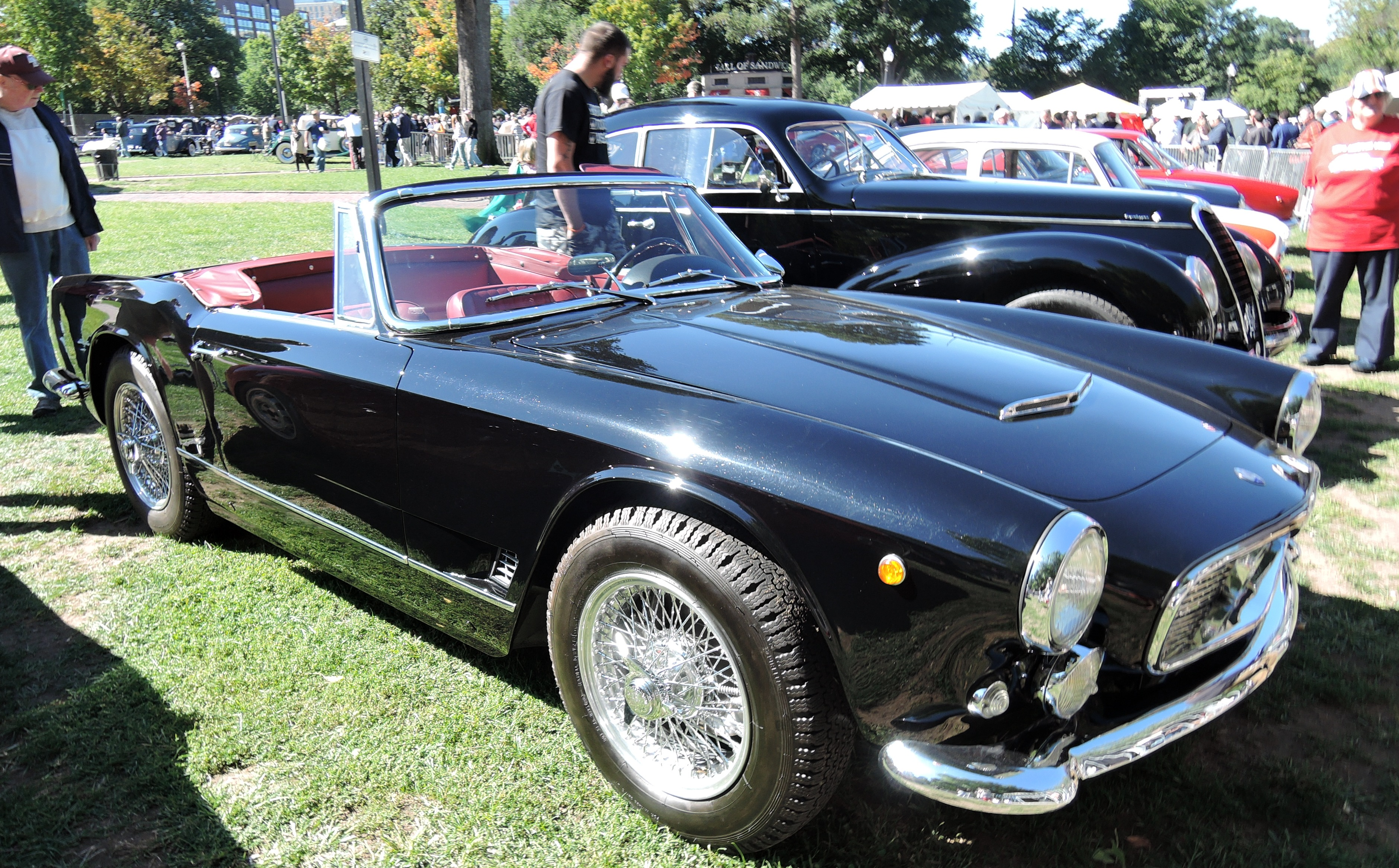 black 1961 Maserati 3500 GT Tourer - the boston cup on boston common