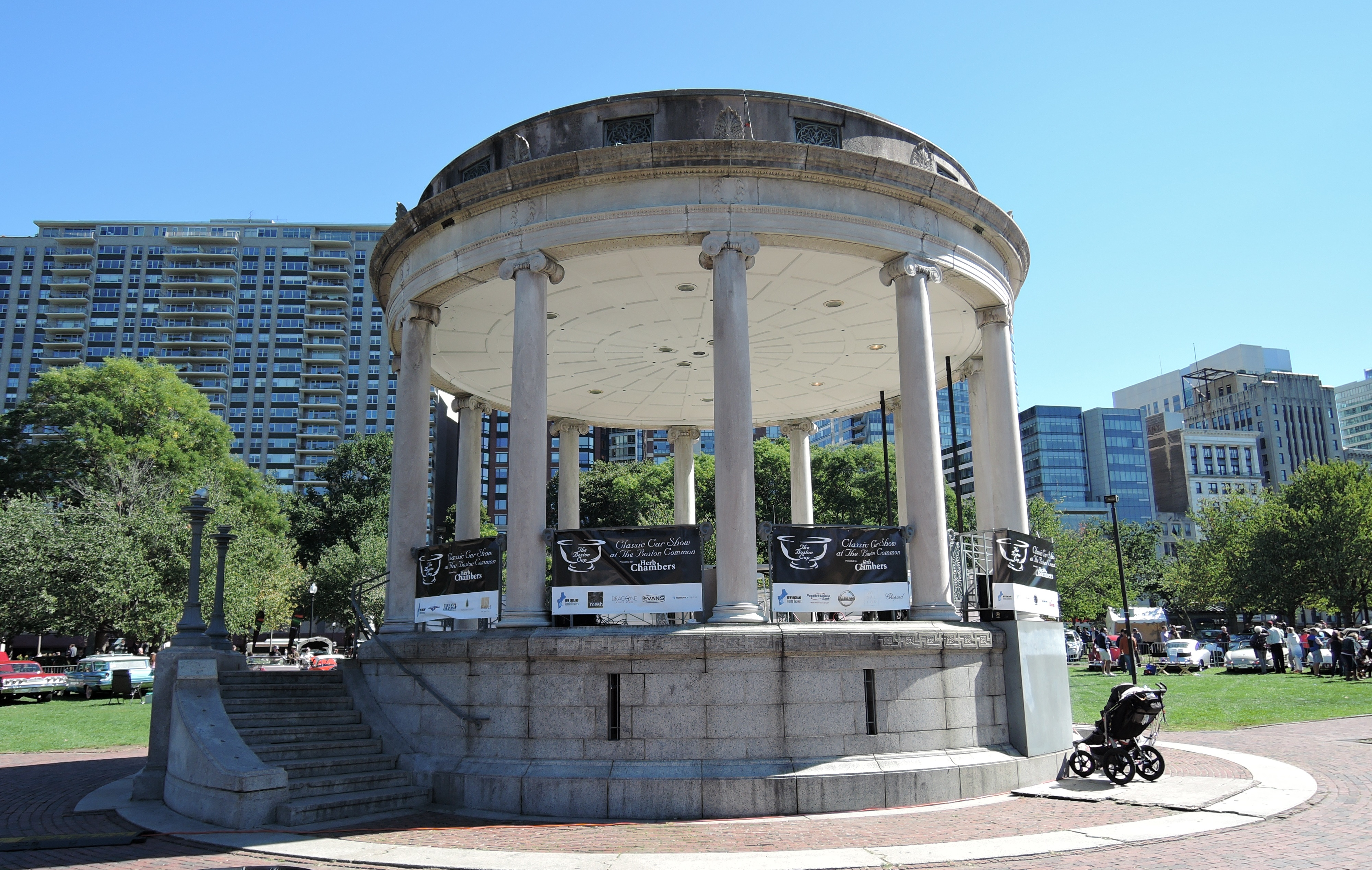 The Parkman Bandstand on Boston Common - The Boston Cup