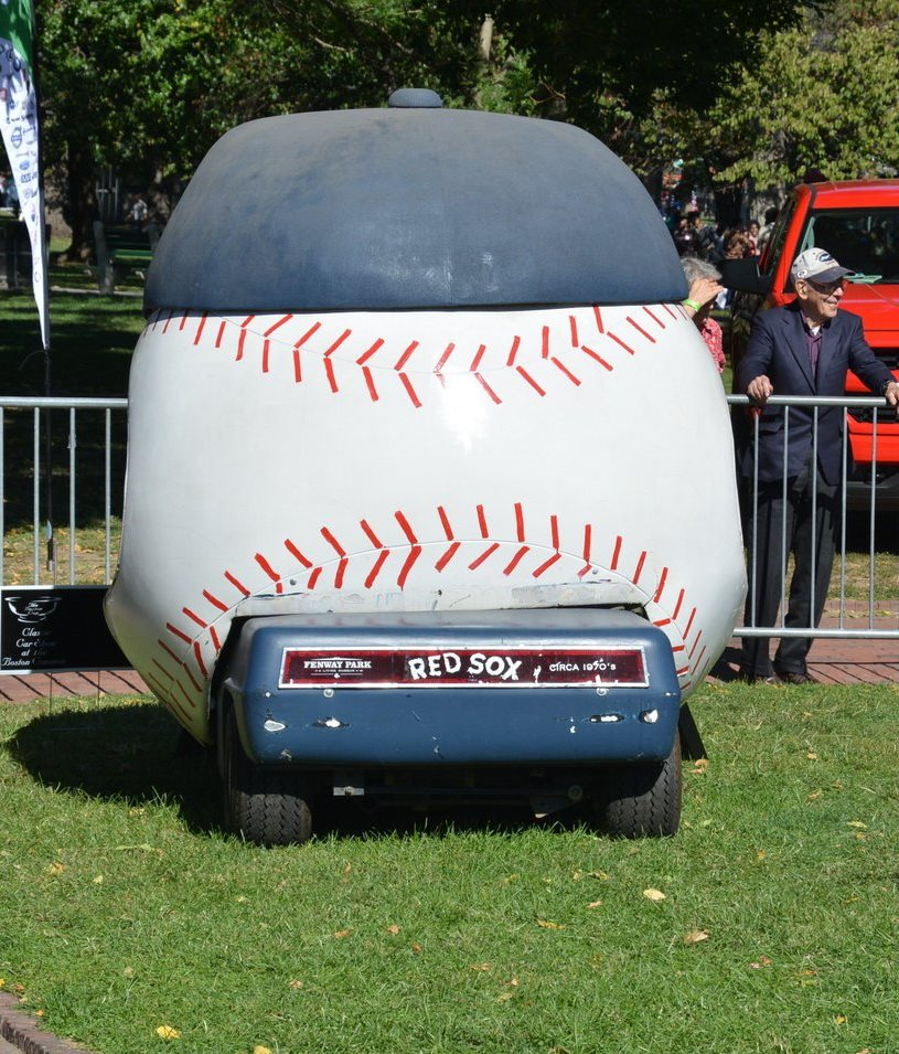 Fenway Park Bullpen Cart - The Boston Cup on Boston Common