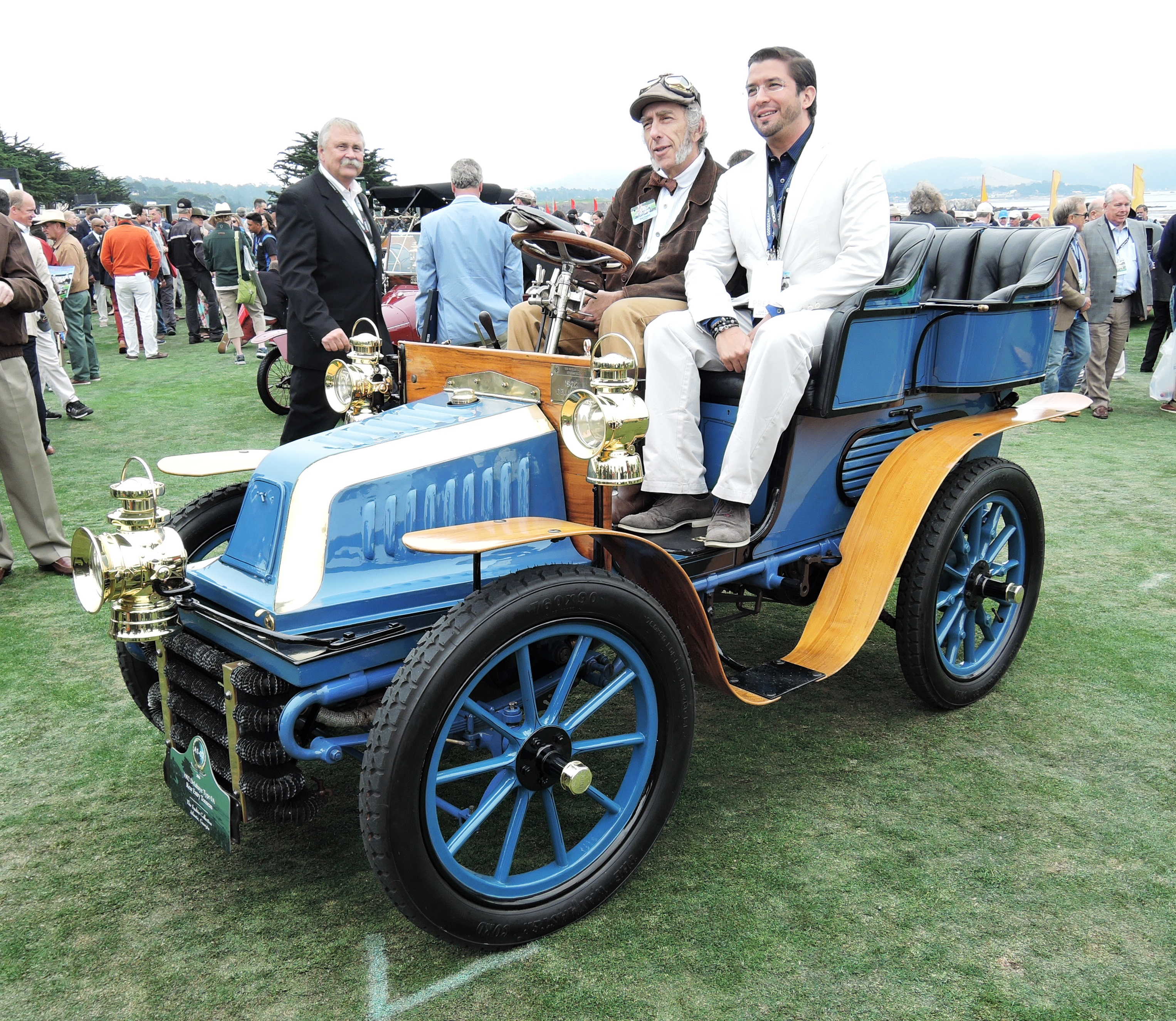 blue 1902 Delahaye Type OA Rear Entry Tonneau - Pebble Beach Concours d'Elegance 2016