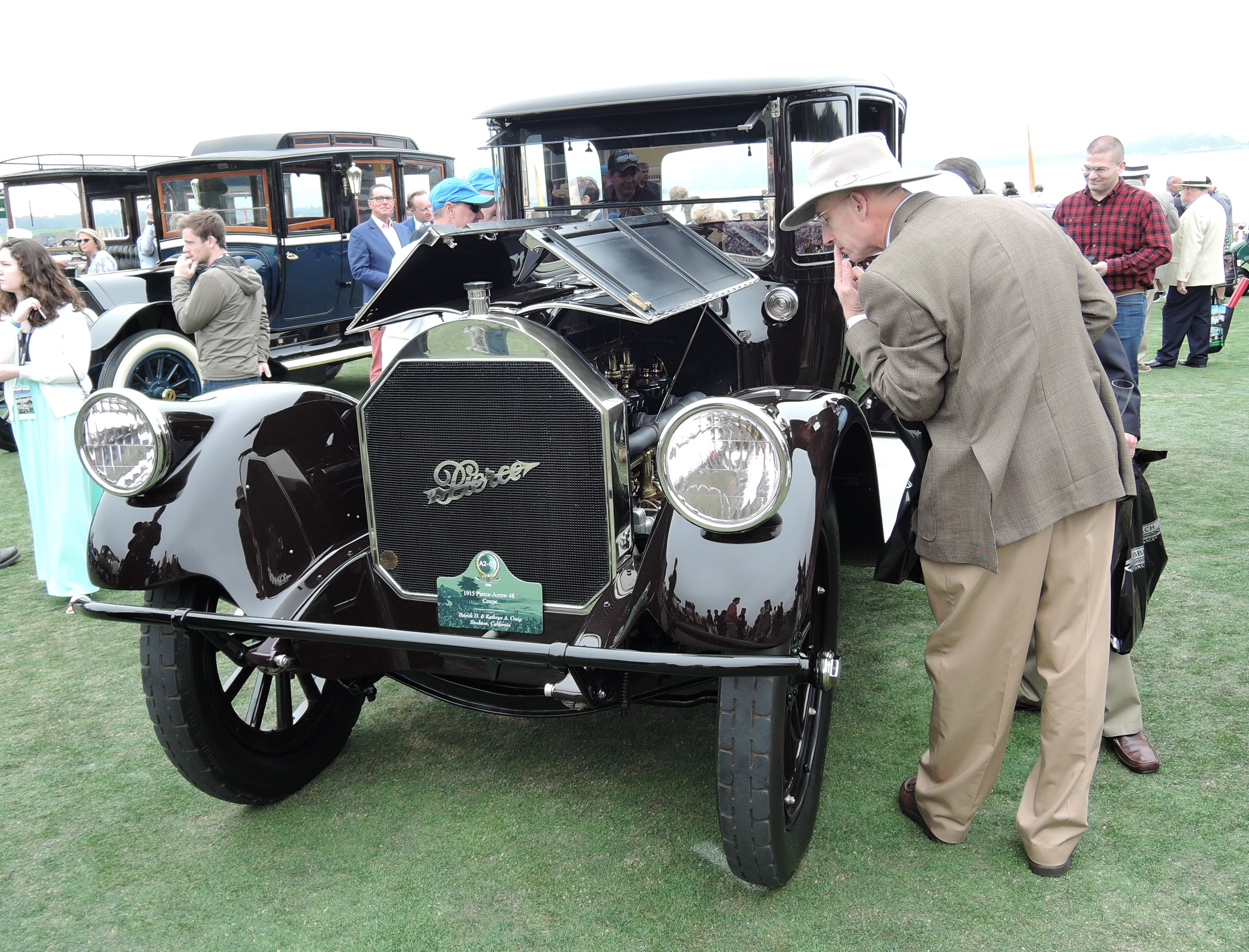 black 1915 Pierce-Arrow 48 Coupe - Pebble Beach Concours d'Elegance 2016