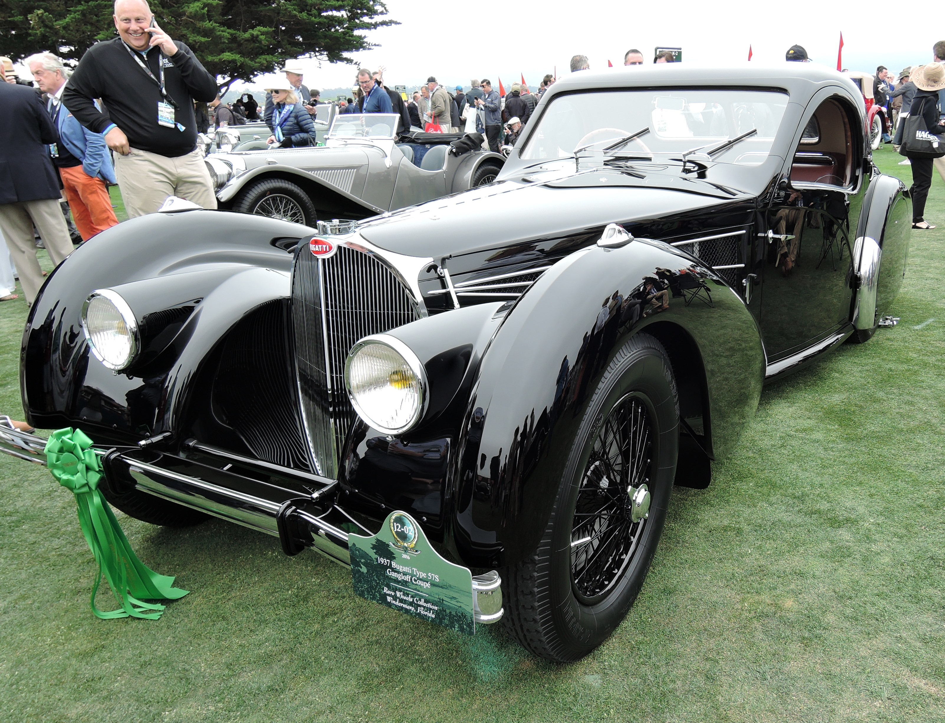 black 1937 Bugatti Type 57S Gangloff Coupe - Pebble Beach Concours d'Elegance 2016