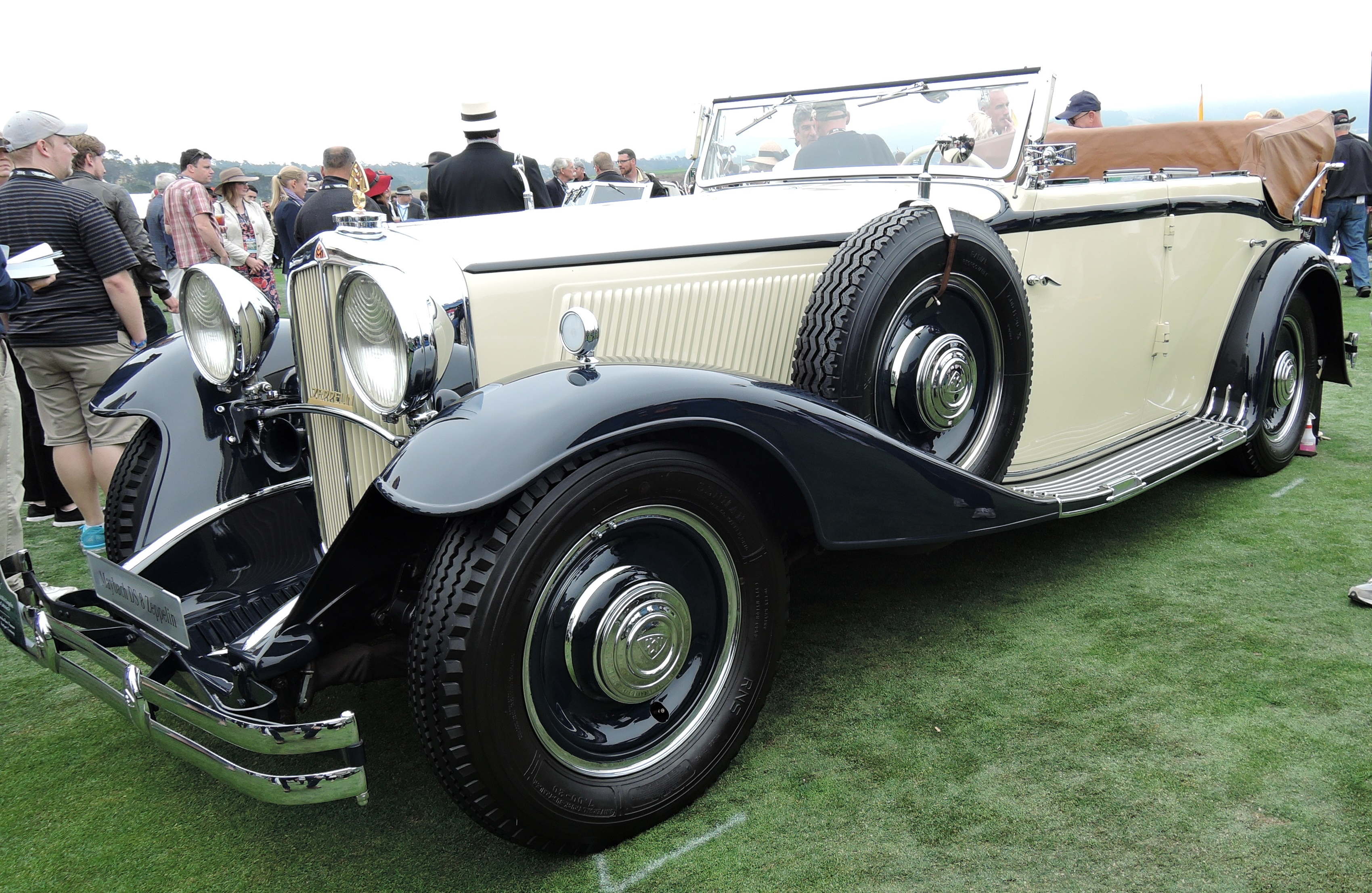 cream 1934 Maybach DS 8 Zeppelin Spohn Cabriolet F - Pebble Beach Concours d'Elegance 2016