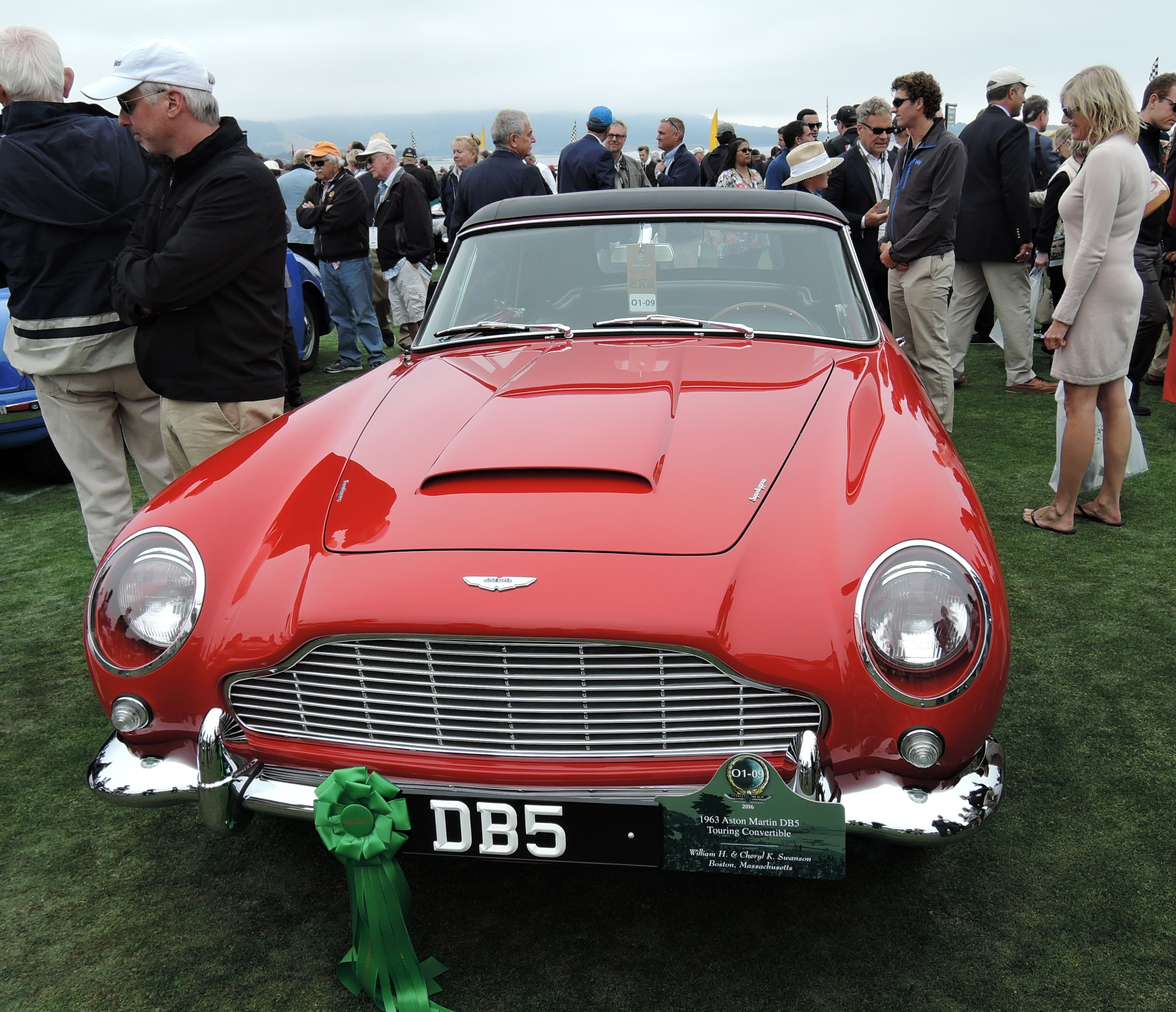 red 1963 Aston Martin DB5 Touring Convertible - Pebble Beach Concours d'Elegance 2016