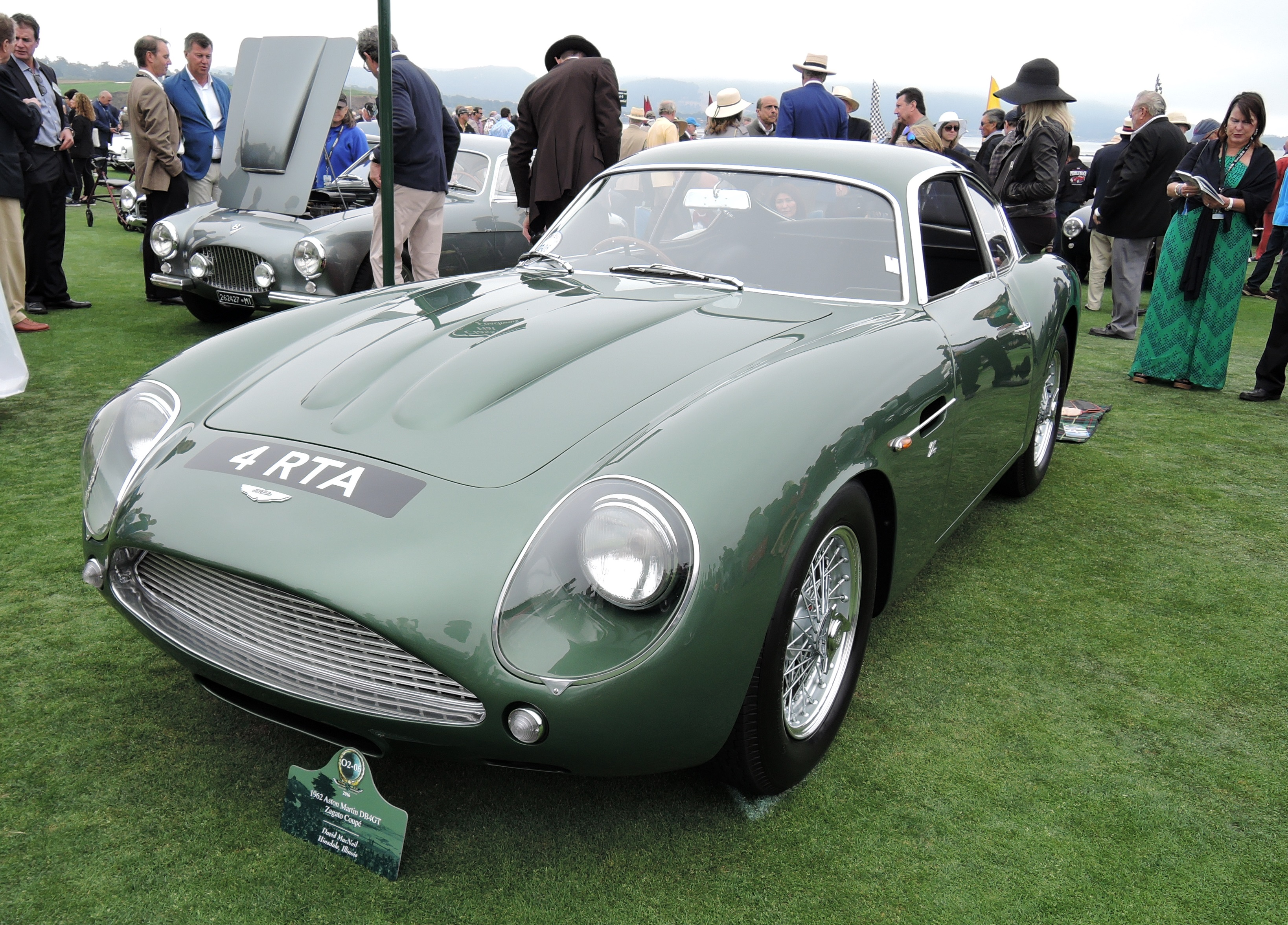 green 1962 Aston Martin DB4 GT Coupe - Pebble Beach Concours d'Elegance 2016