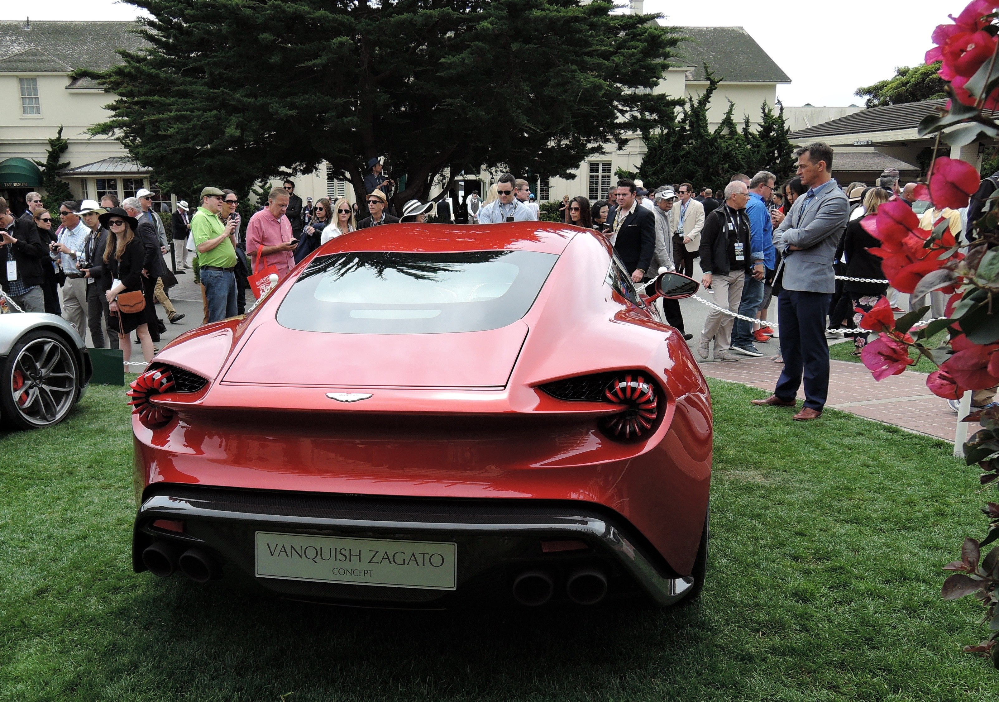 sunburst orange Aston Martin Vanquish Zagato Concept Car - Pebble Beach Concours d'Elegance 2016