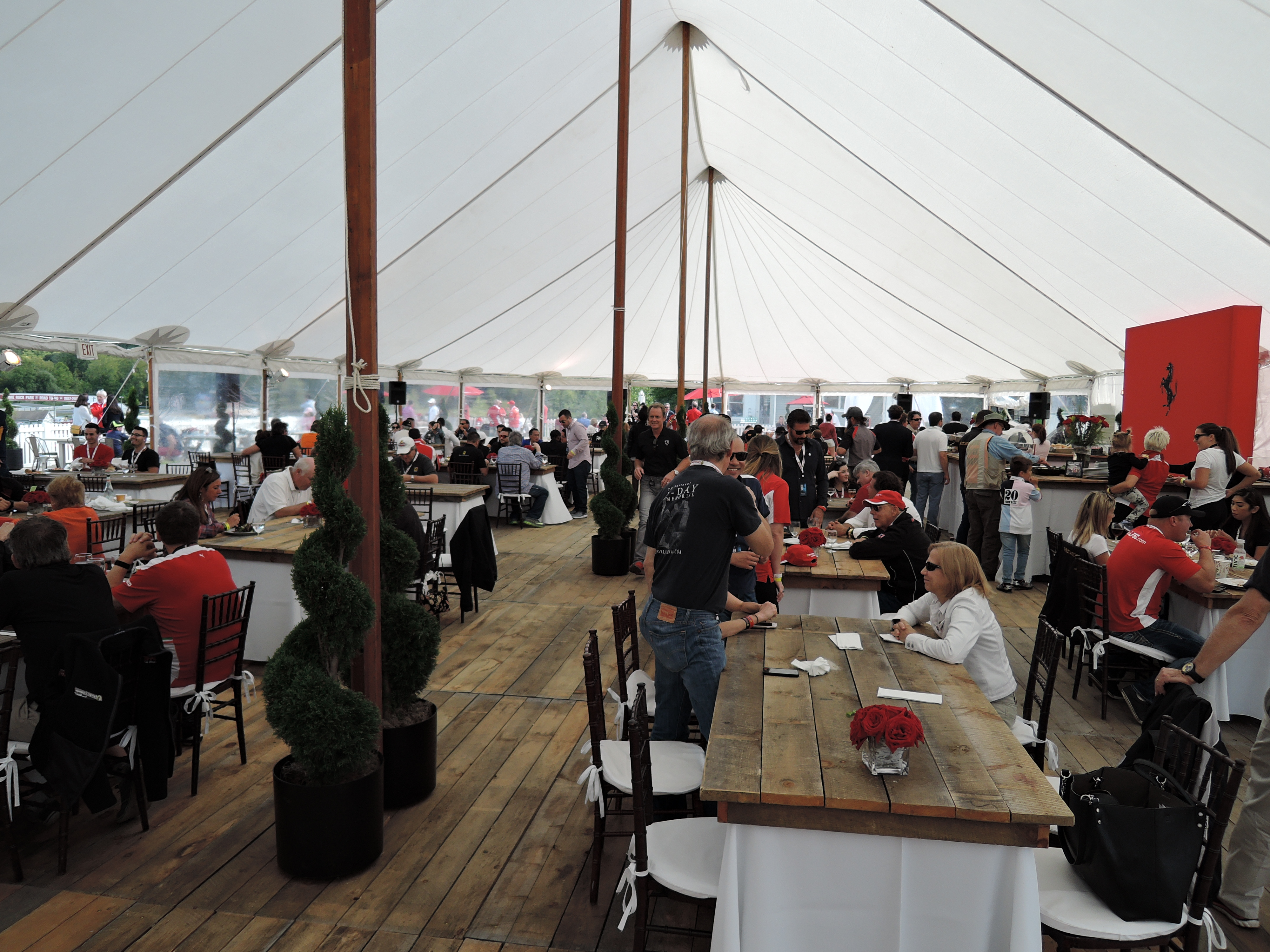 FNA hospitality at Ferrari Challenge Series at LRP