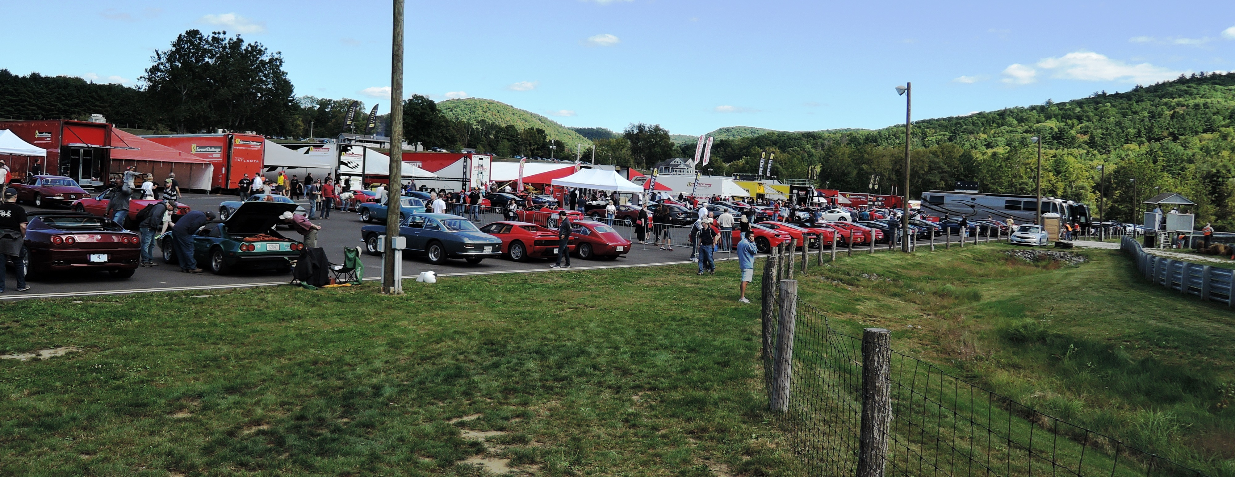 vintage corral at Ferrari Challenge at LRP