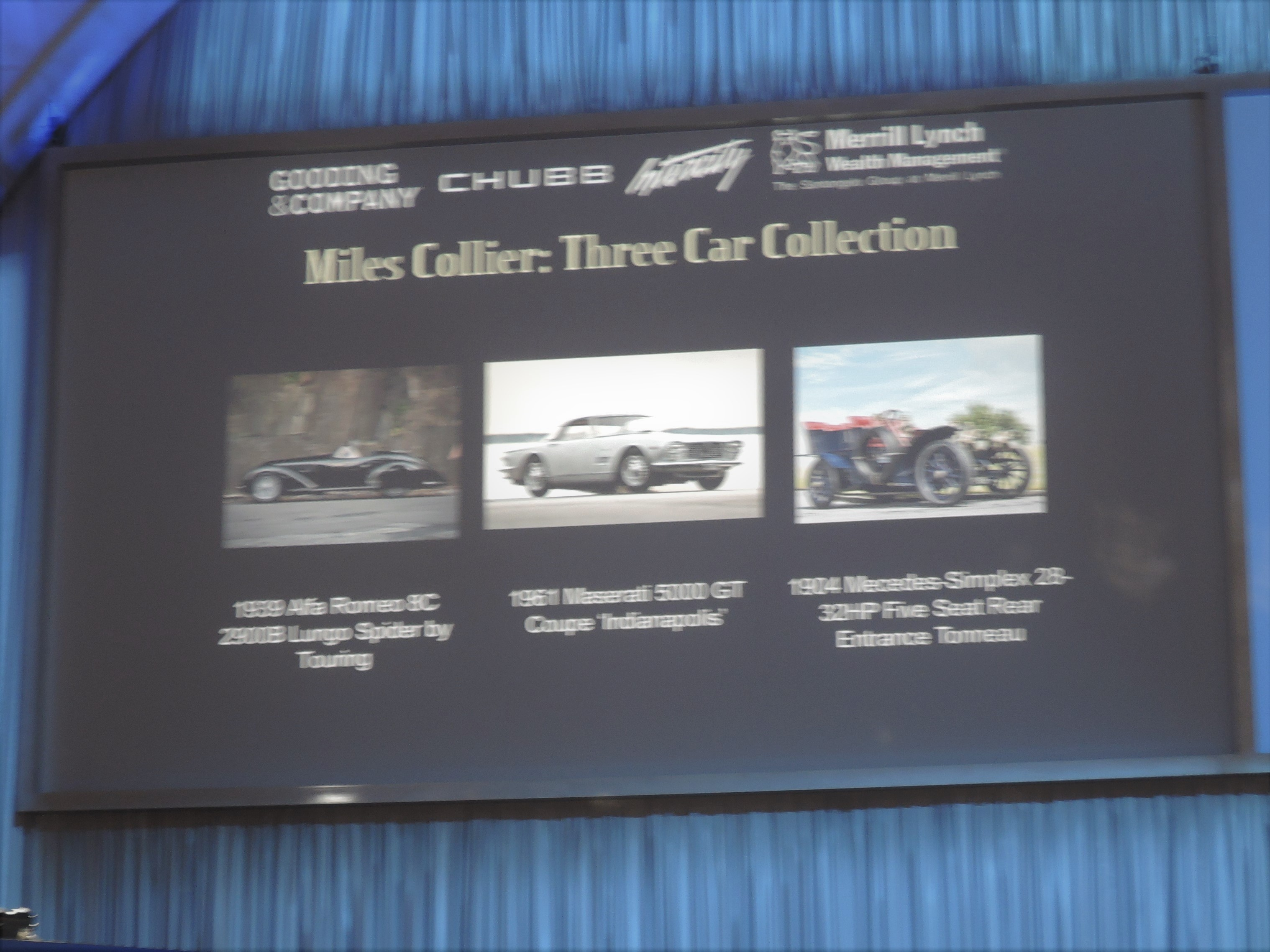 Miles Collier's 3 cars - Monterey 2016; Sports Car Market Insider's Seminar and Auctions