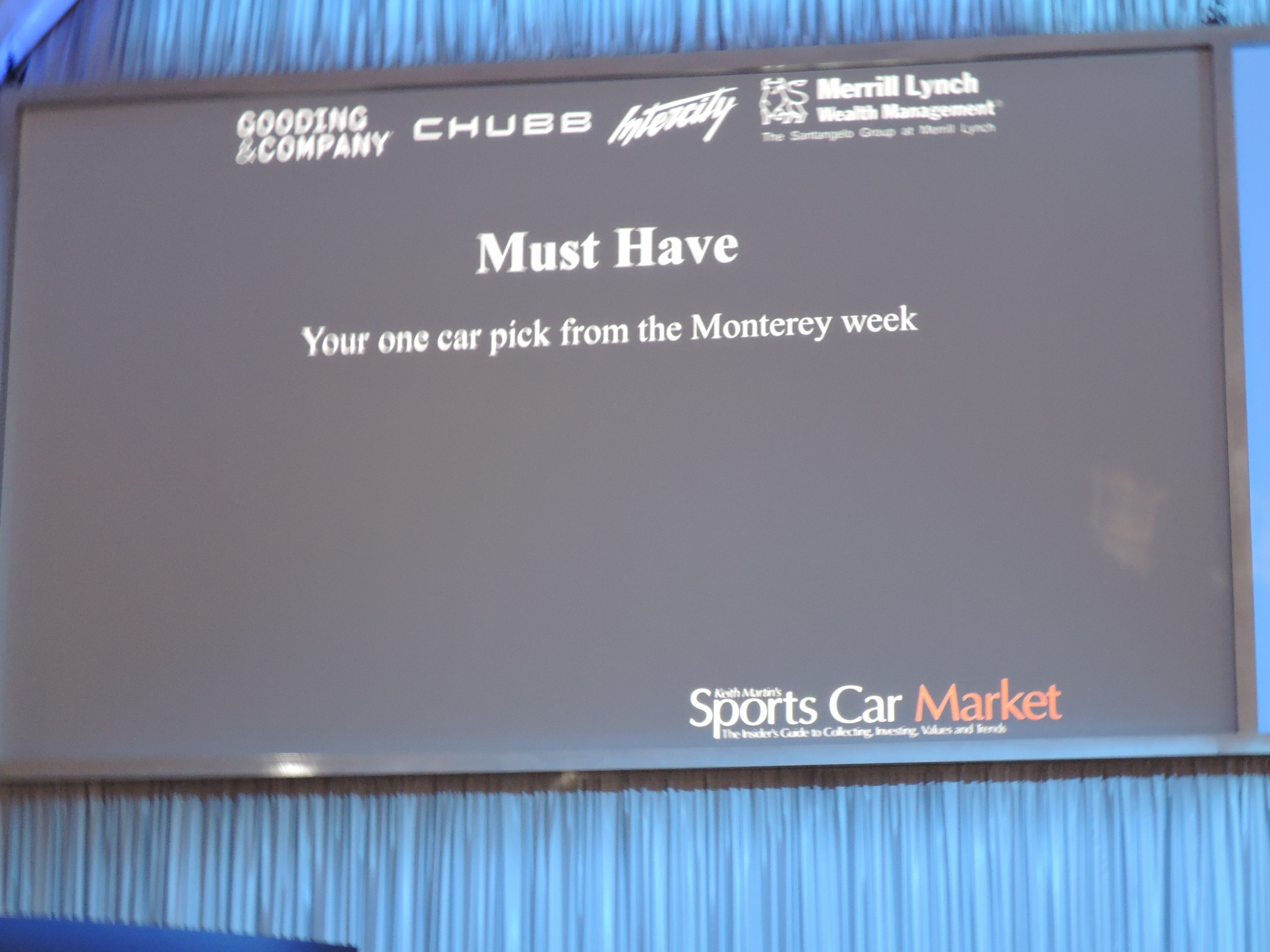Must Haves -Monterey 2016; Sports Car Market Insider's Seminar and Auctions