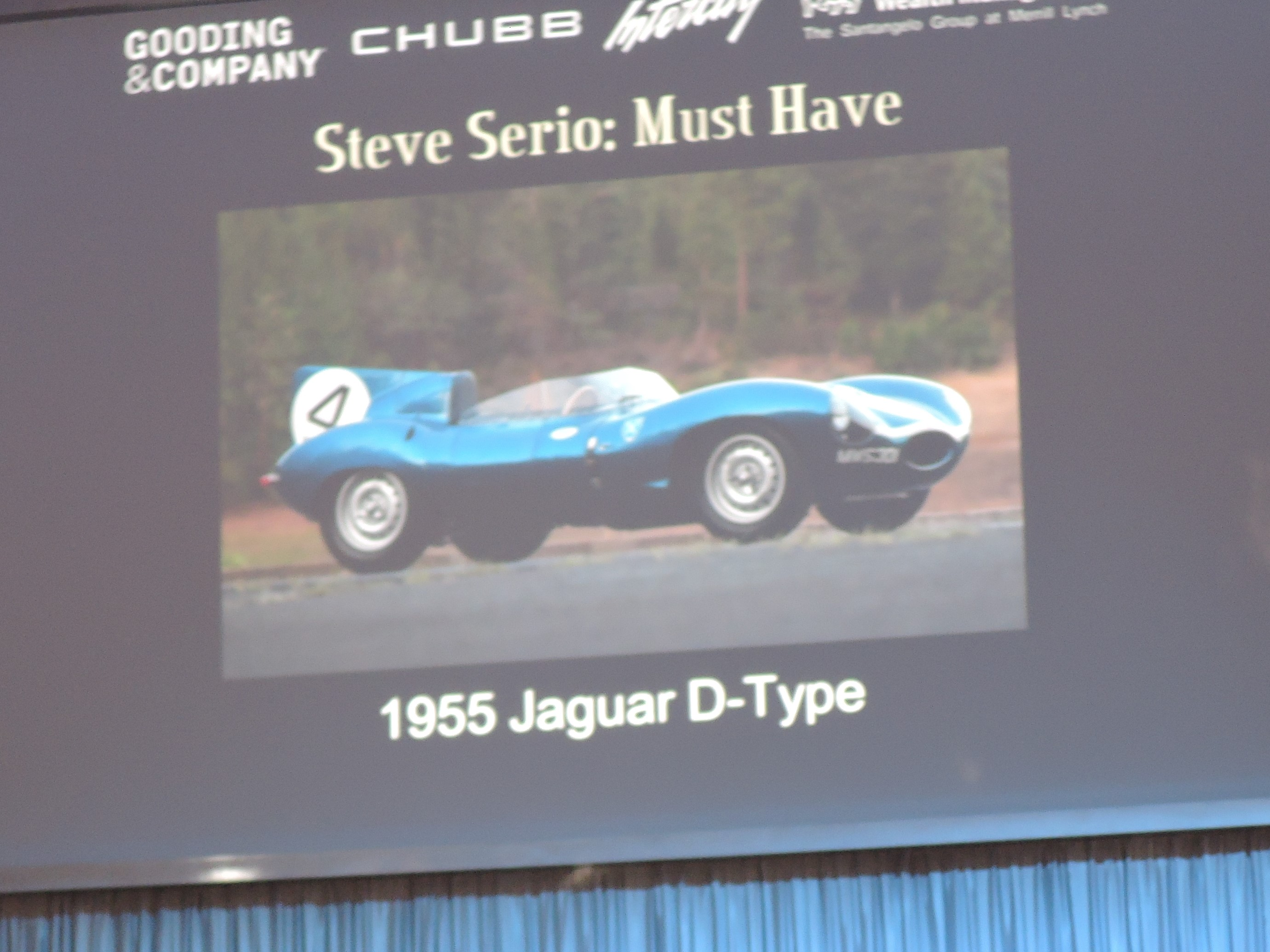 Steve Serio's must have; 1955 Jaguar D-Type - Monterey 2016; Sports Car Market Insider's Seminar and Auctions