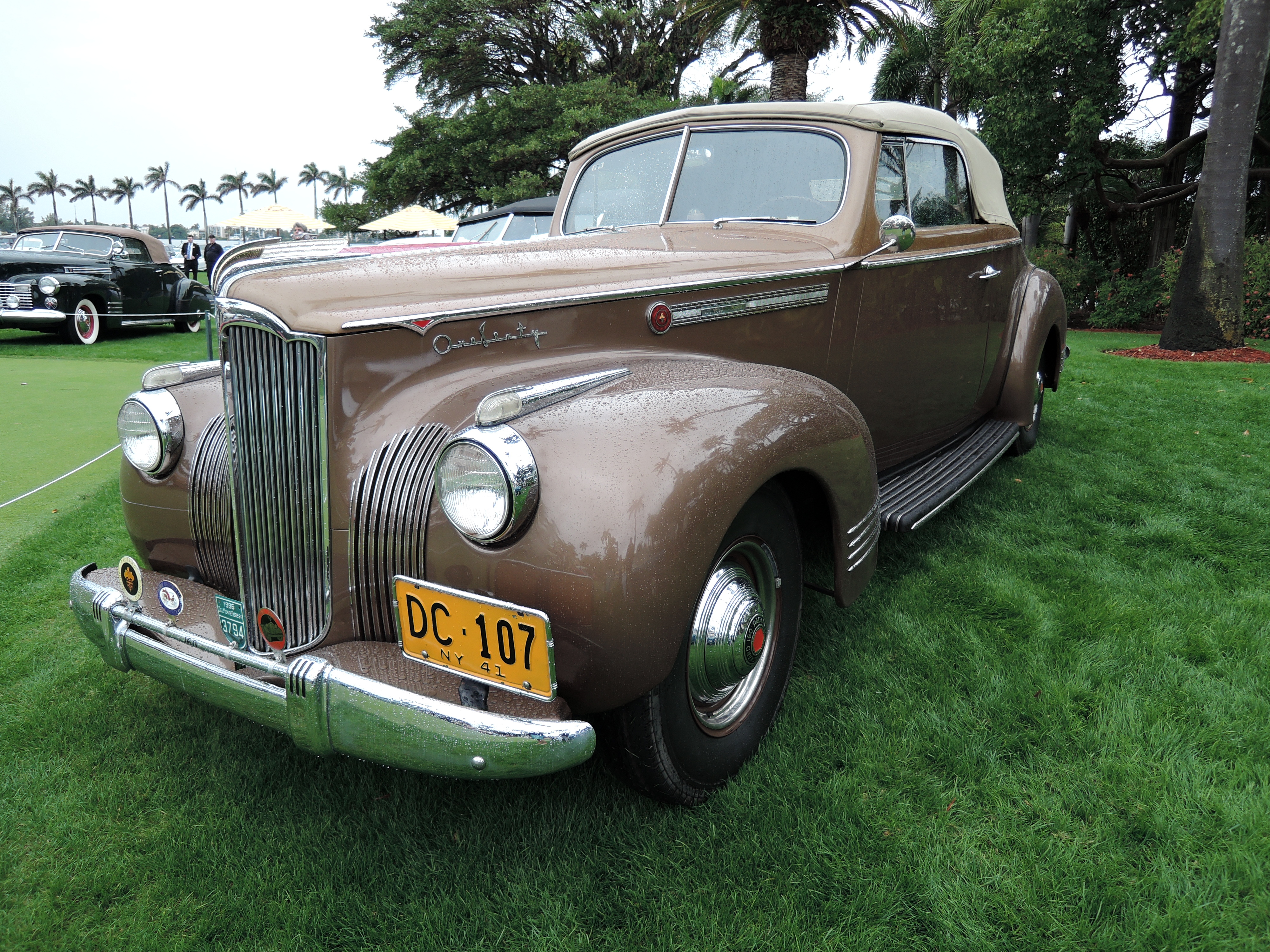 brown 1941 Packard One Sixty - MaraLago 2017