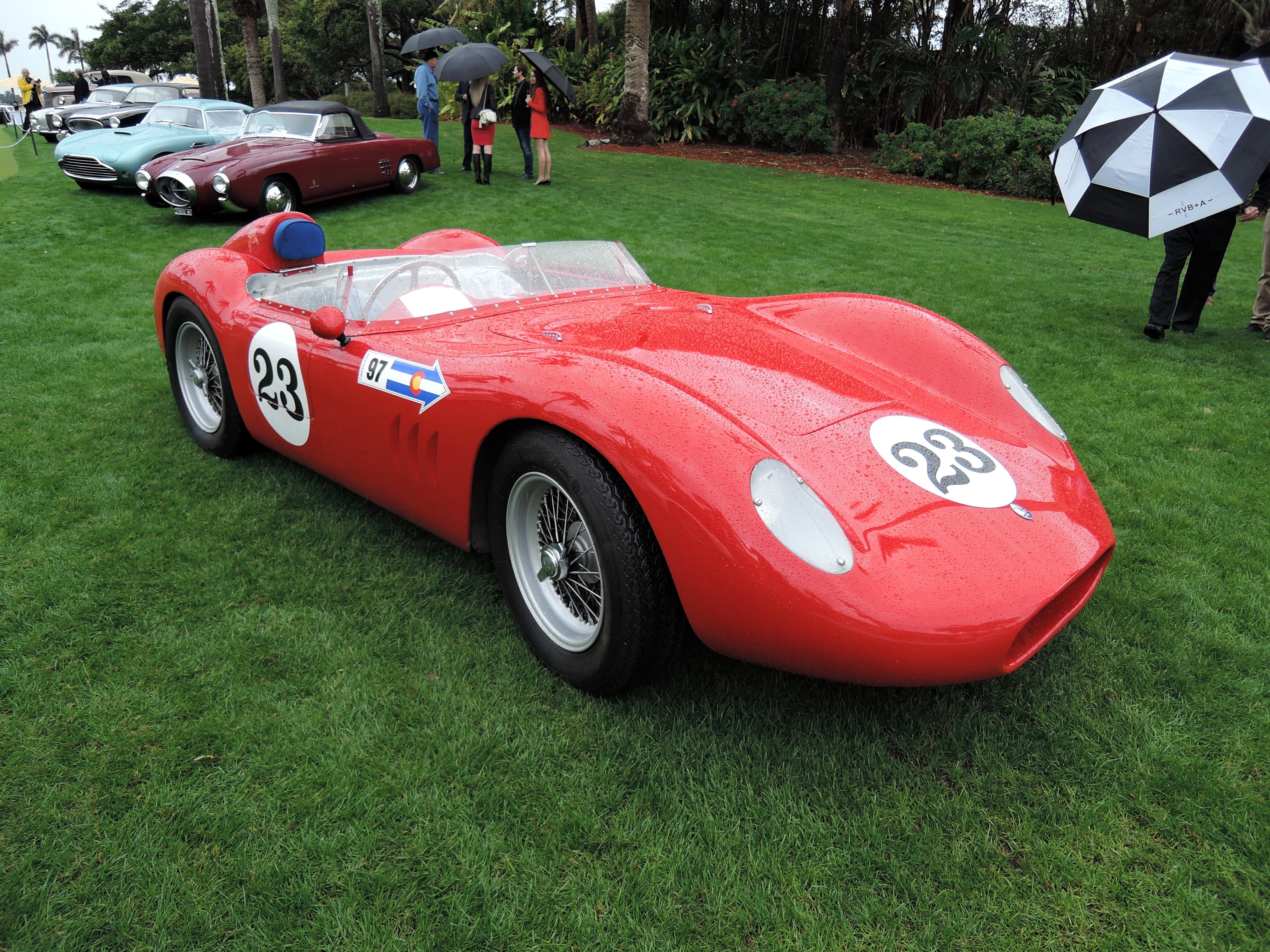 red 1957 Maserati 200 SI; Sn 2423 - MaraLago