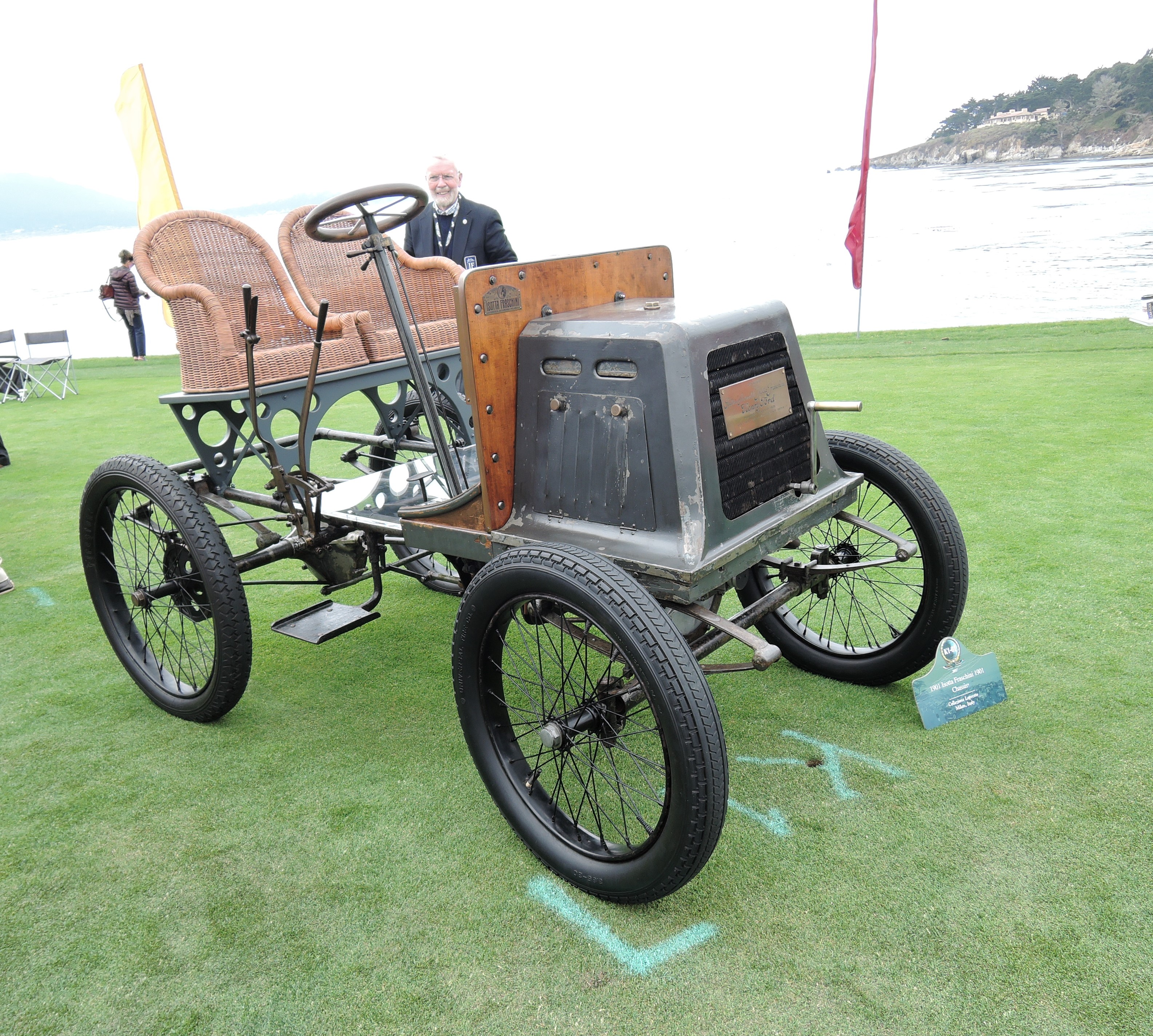 black 1901 Isotta Fraschini Chassis; chassis number 1 - Pebble Beach Concours d'Elegance 2017