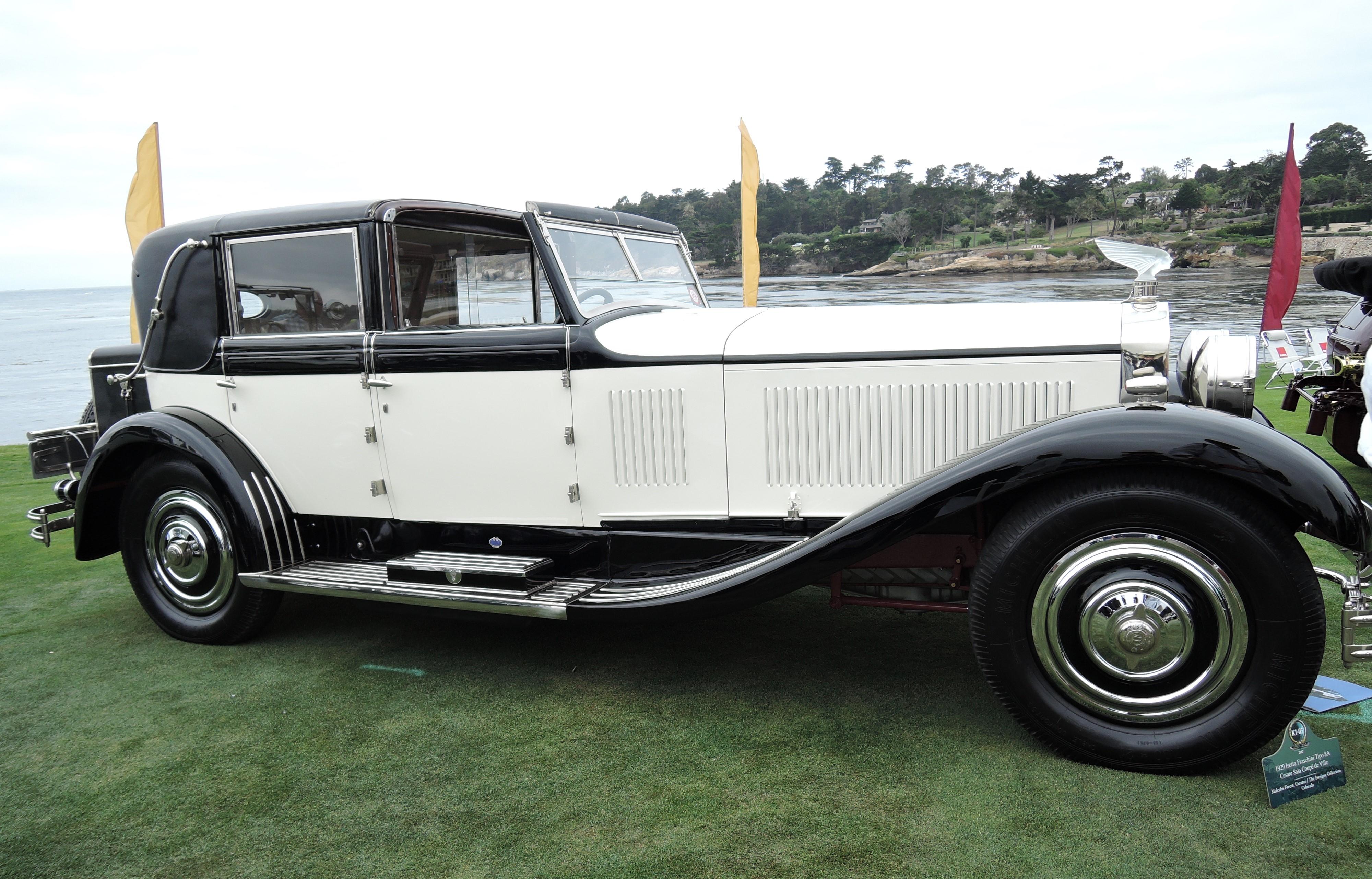 white/black 1929 Isotta Fraschini Tipo 8A Cesare Sala Coupe de Ville - Pebble Beach Concours d'Elegance 2017