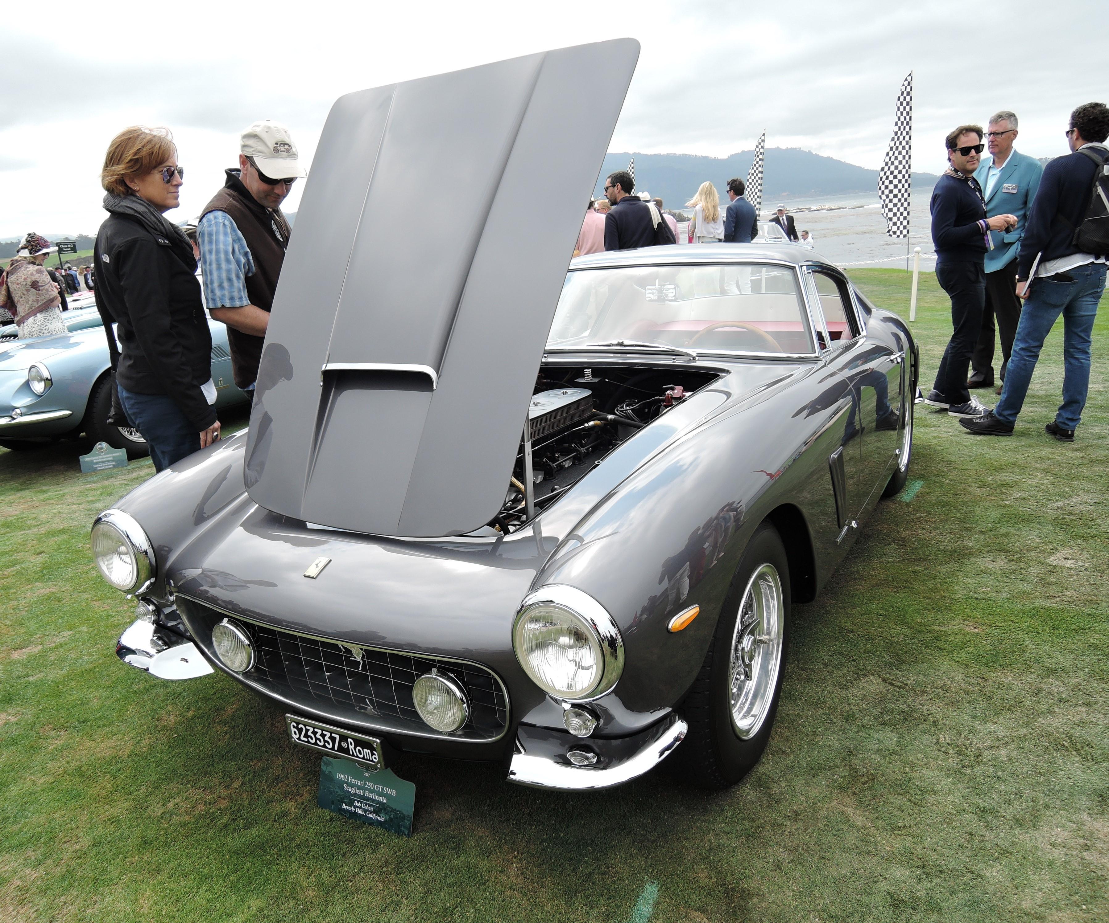 grey 1962 Ferrari 250 GT SWB Scaglietti Berlinetta; Sn 3337 - Pebble Beach Concours d'Elegance 2017