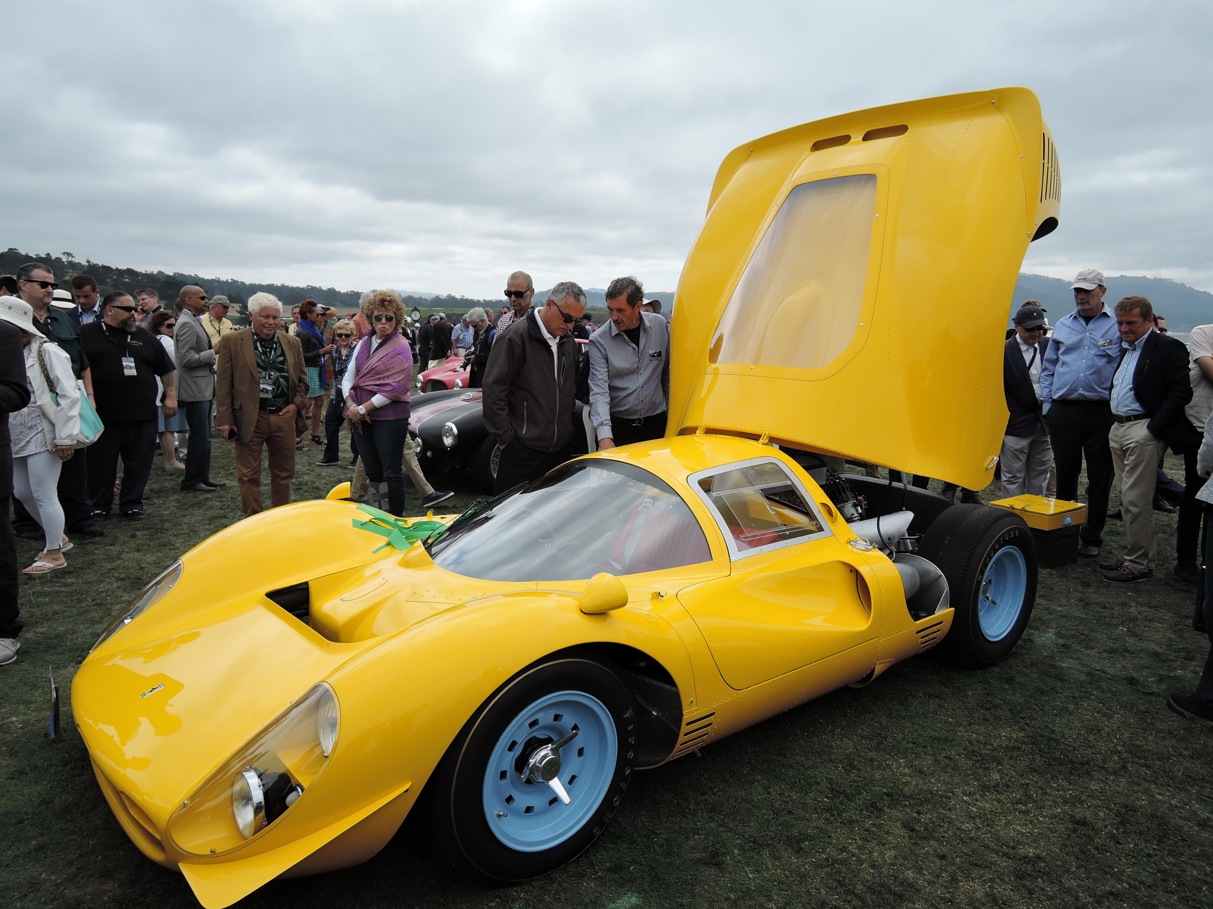 yellow 1967 Ferrari 412 P Competizione; Sn 0850 - Pebble Beach Concours d'Elegance 2017
