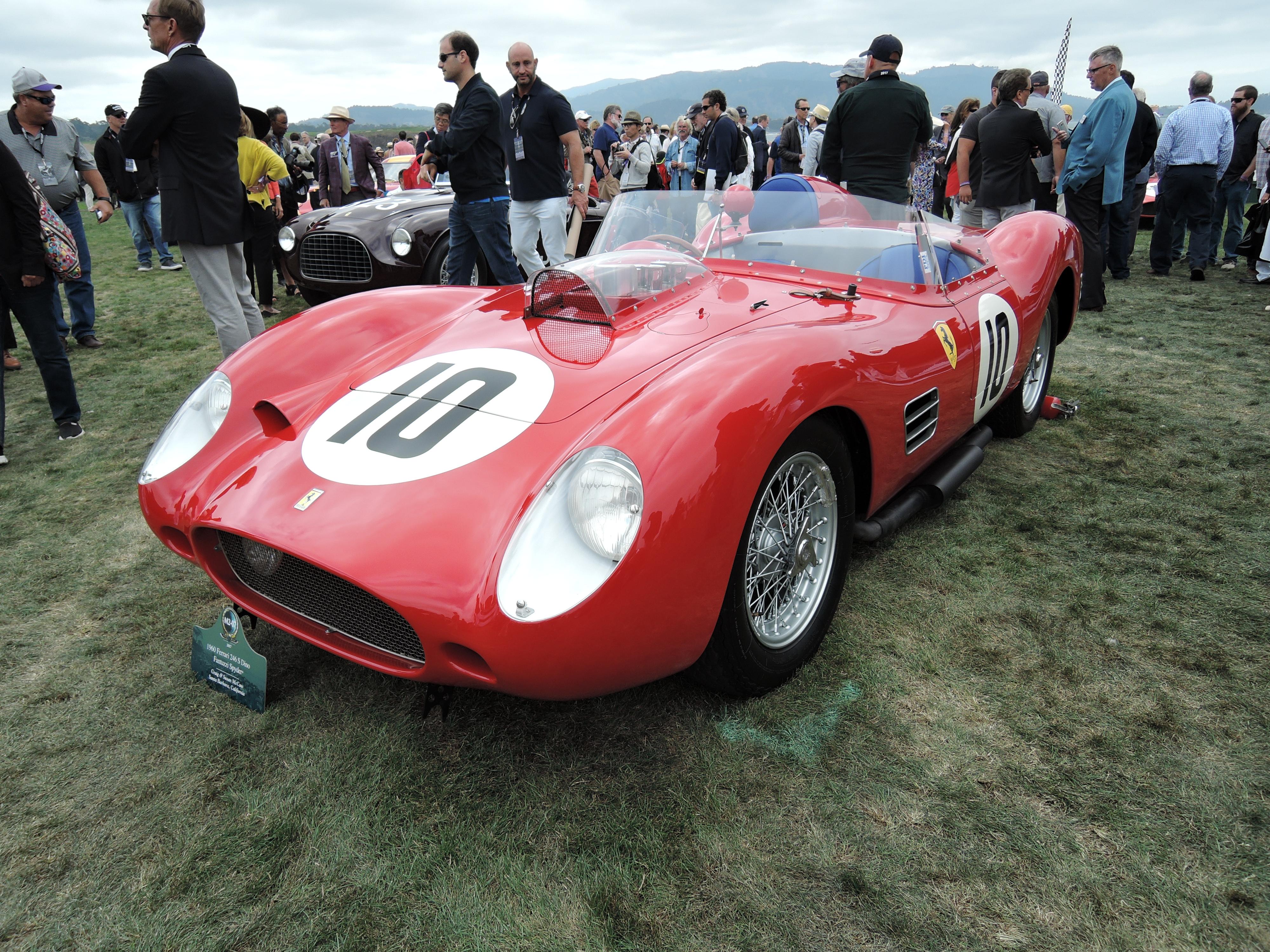 red 1960 Ferrari 246 S Dino Fantuzzi Spyder; Sn 0778 - Pebble Beach Concours d'Elegance 2017