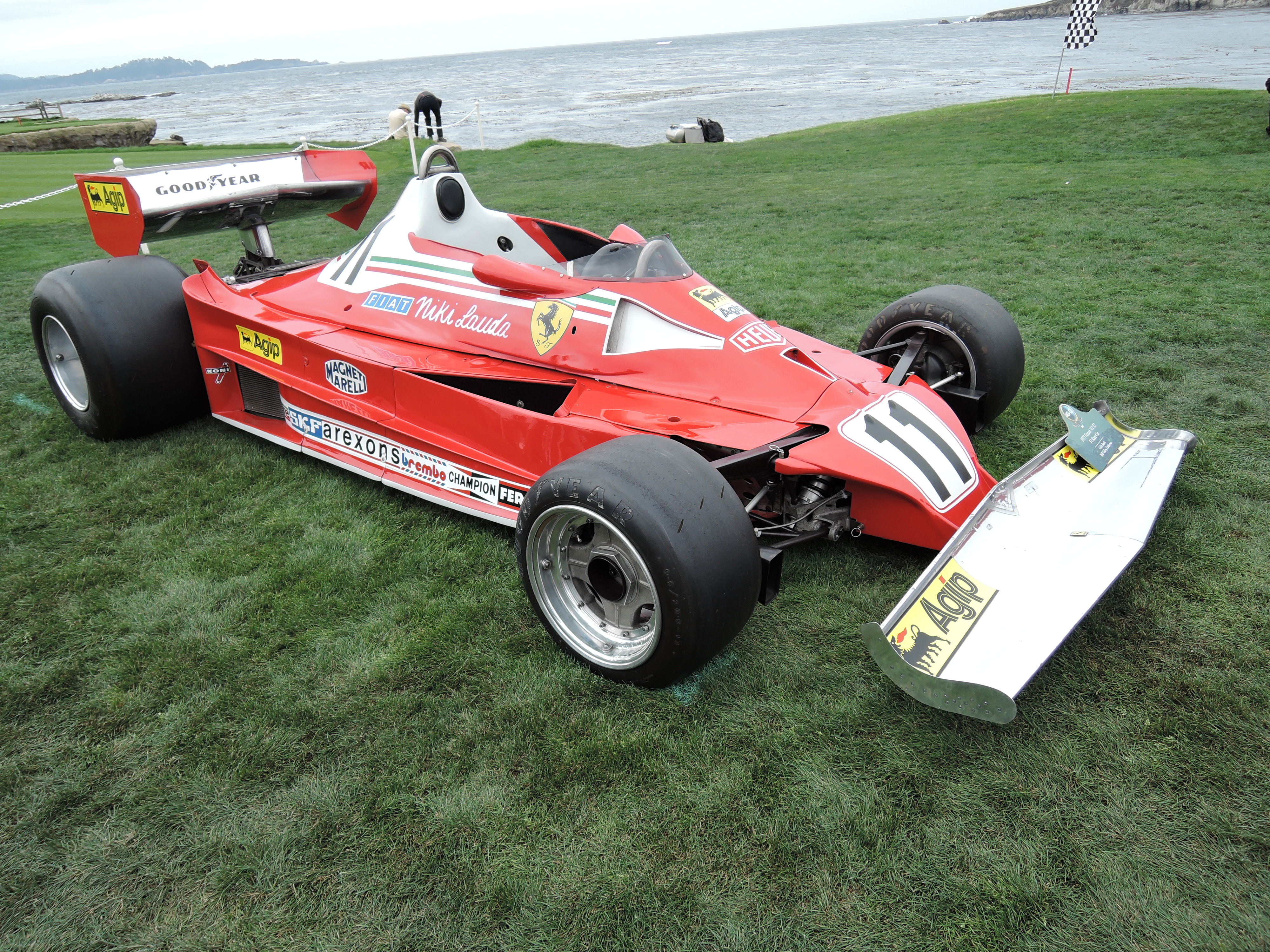 red 1977 Ferrari 312 T2 F1 Race Car; Sn 031- Pebble Beach Concours d'Elegance 2017