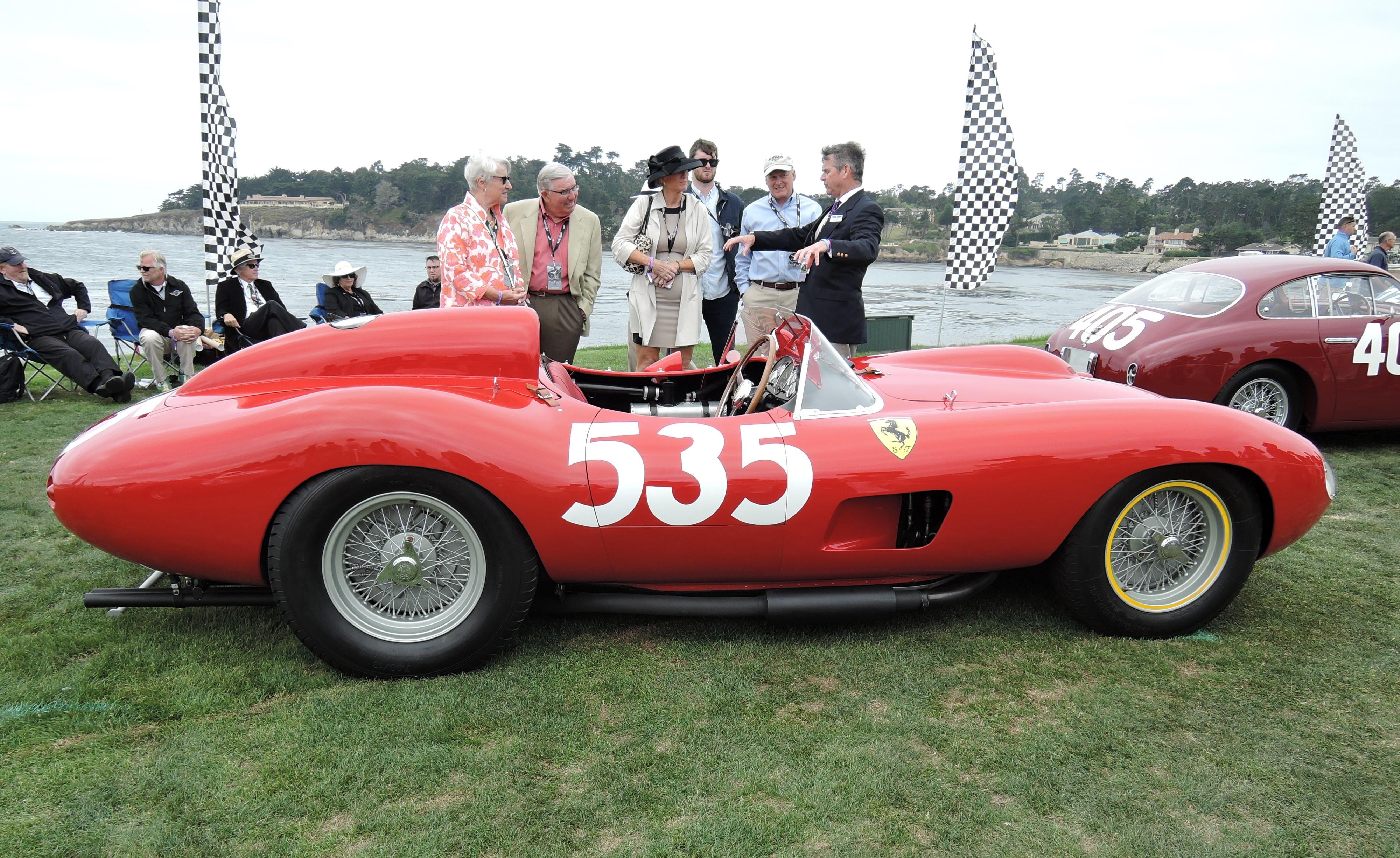 red 1957 Ferrari 315 S Scaglietti Spider; Sn 0684 - Pebble Beach Concours d'Elegance 2017
