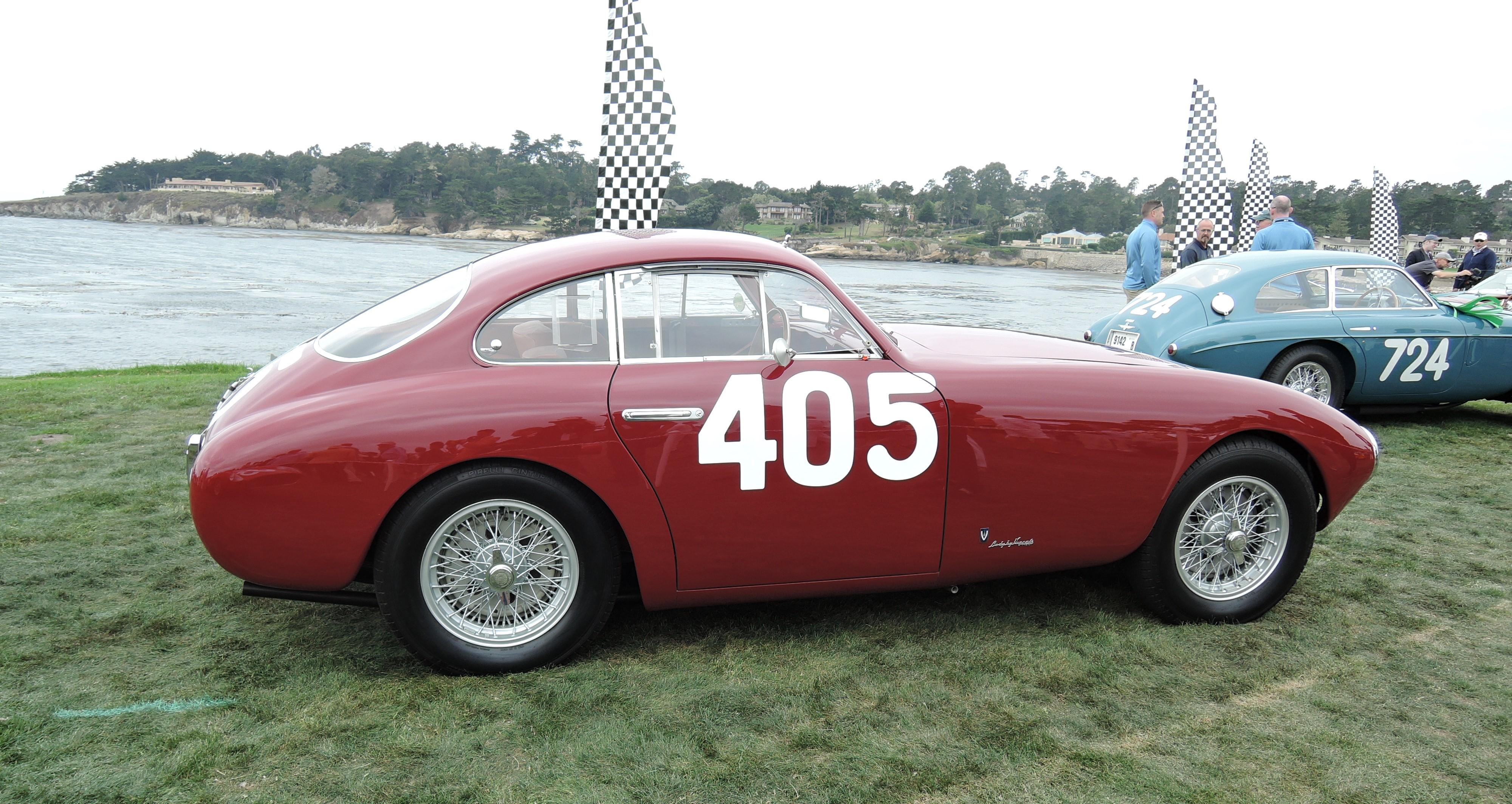 red 1951 Ferrari 340 America Vignale Berlinetta Sn 0082A - Pebble Beach Concours d'Elegance 2017