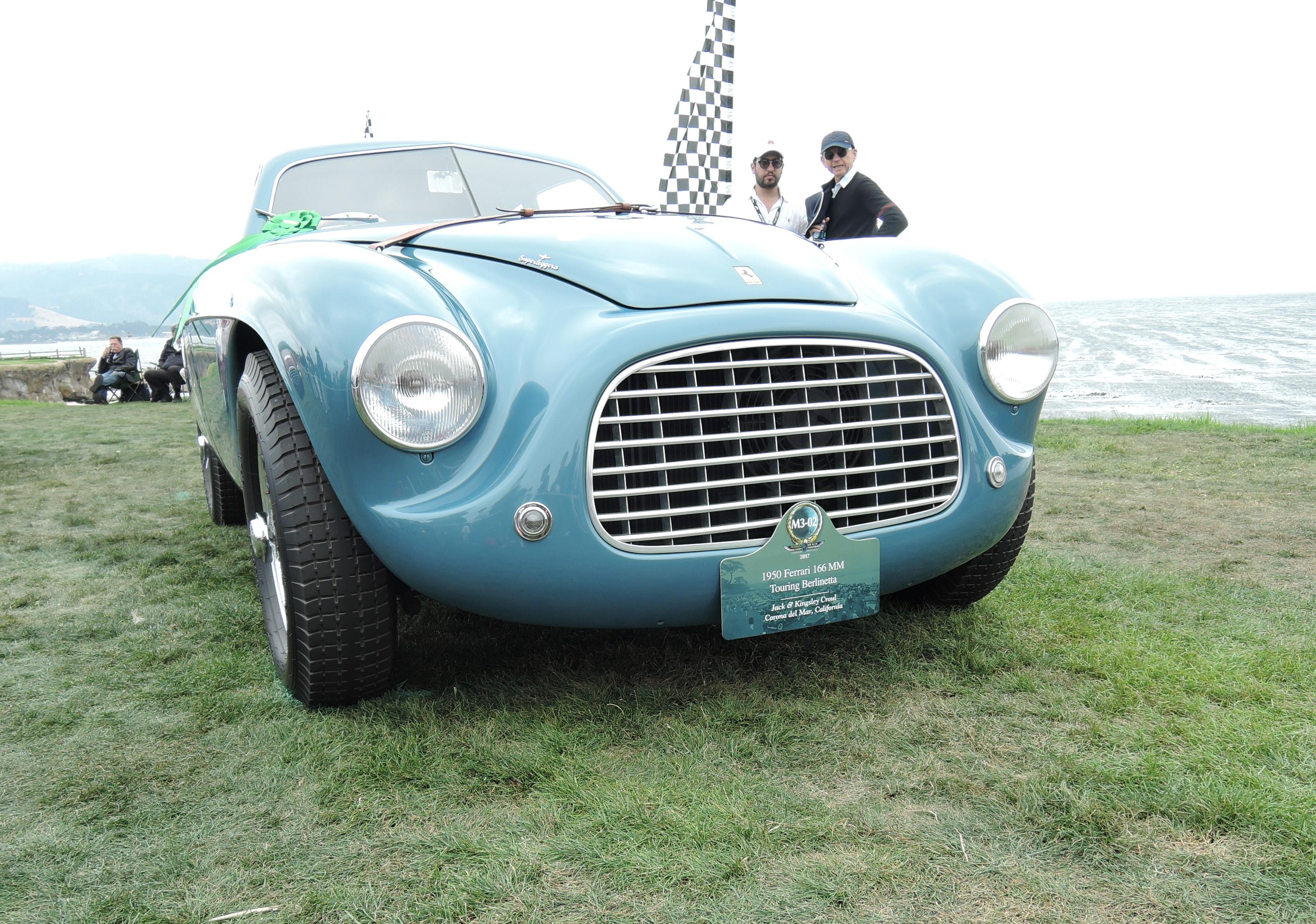 blue 1950 Ferrari 166 MM Sn 0026 - Pebble Beach Concours d'Elegance 2017