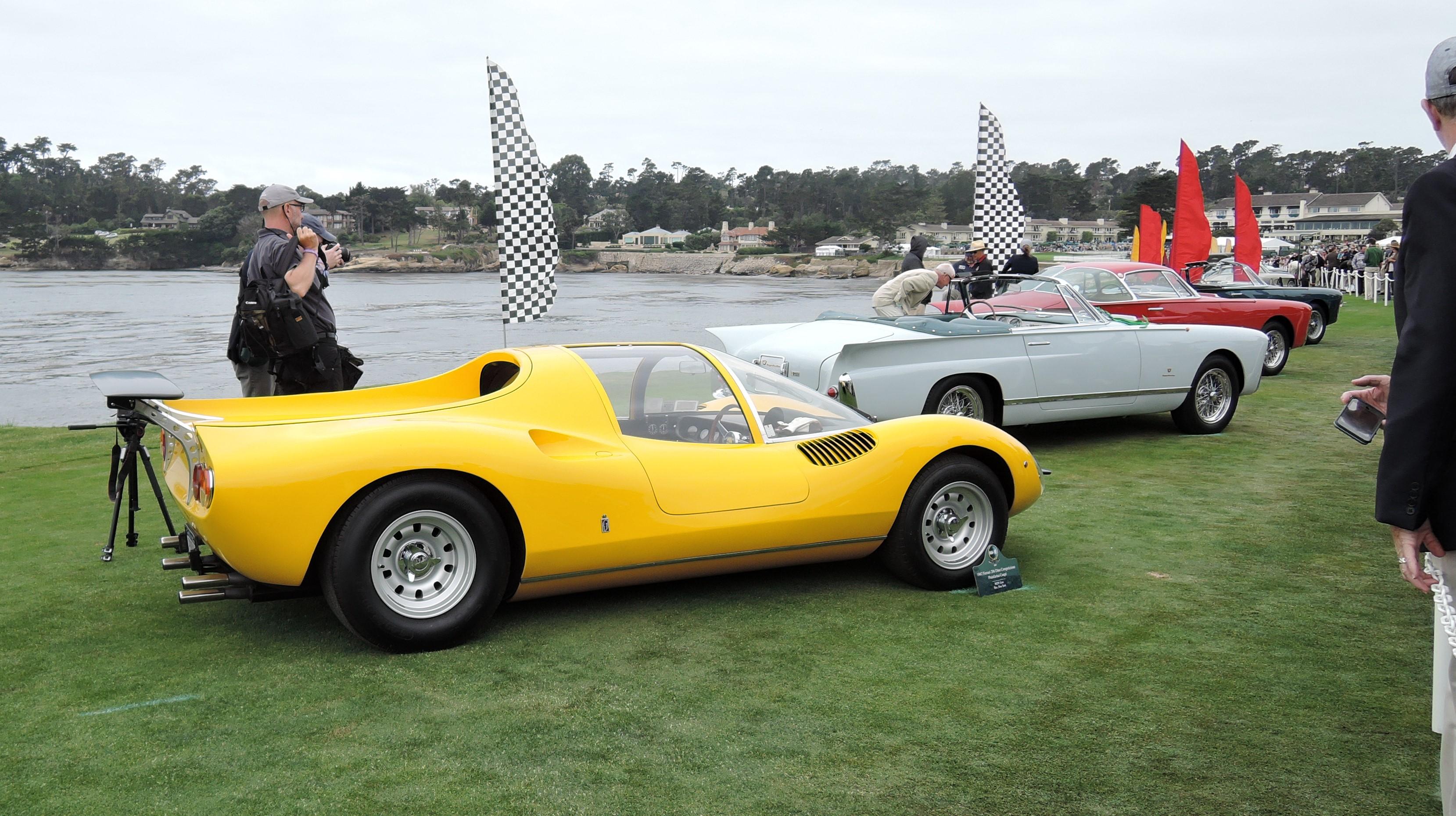 yellow 1967 Ferrari 206 Dino Competizione Pininfarina Coupe; Sn 10523 - Pebble Beach Concours d'Elegance 2017