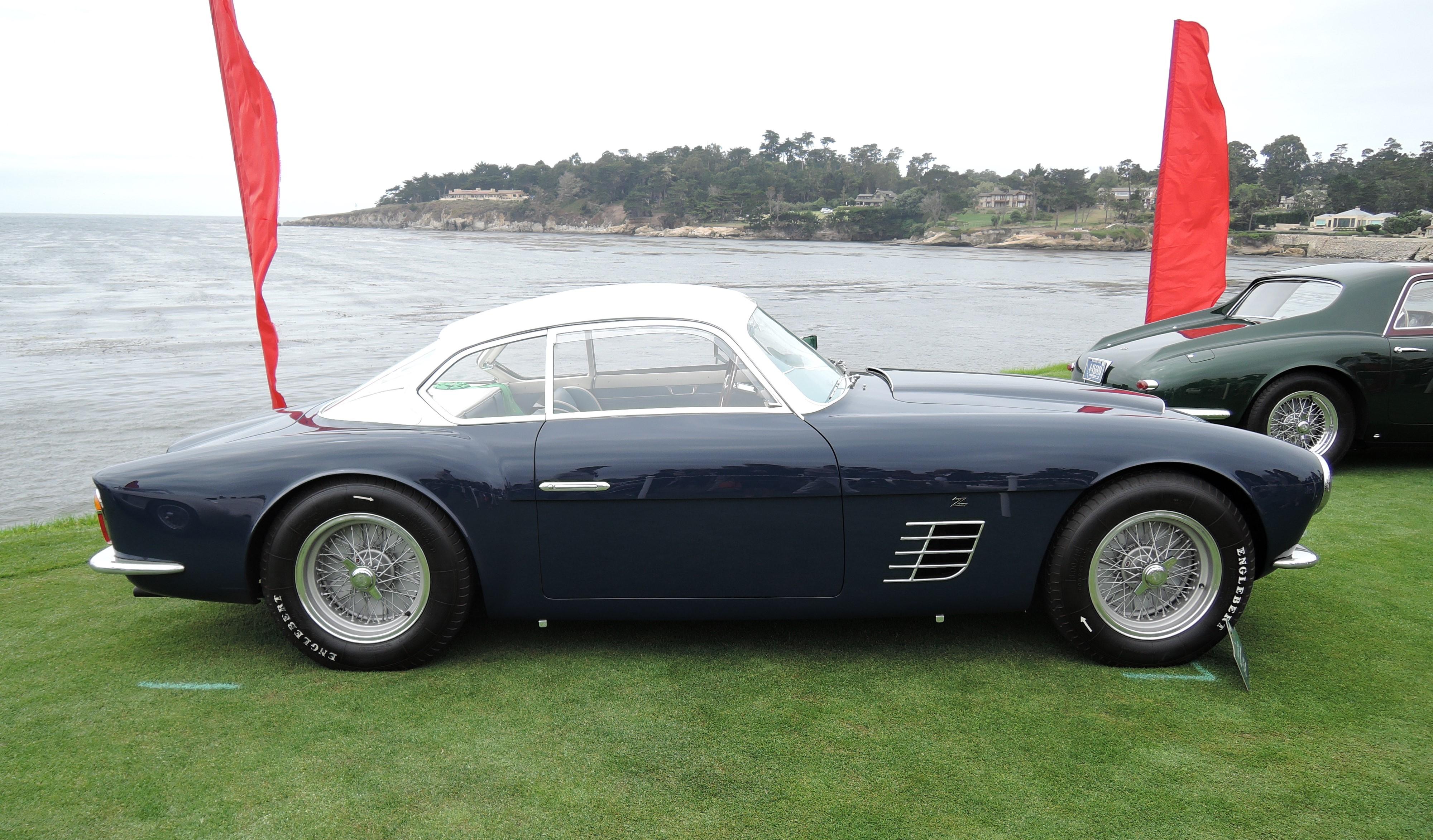 blue 1956 Ferrari 250 GT Zagato Berlinetta Speciale - Pebble Beach Concours d'Elegance 2017