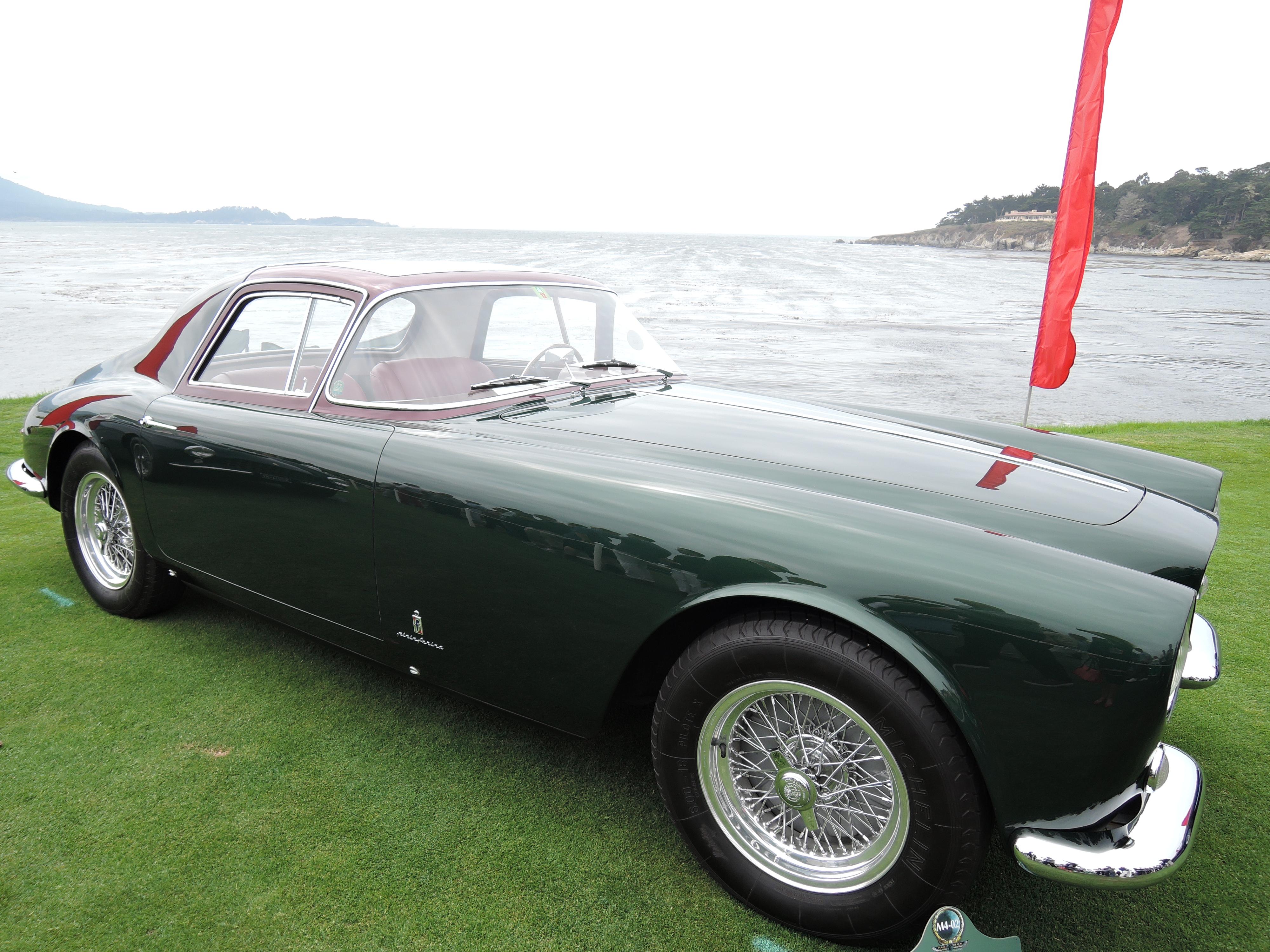 green 1955 Ferrari 375 America Pinin Farina Coupe Speciale - Pebble Beach Concours d'Elegance 2017