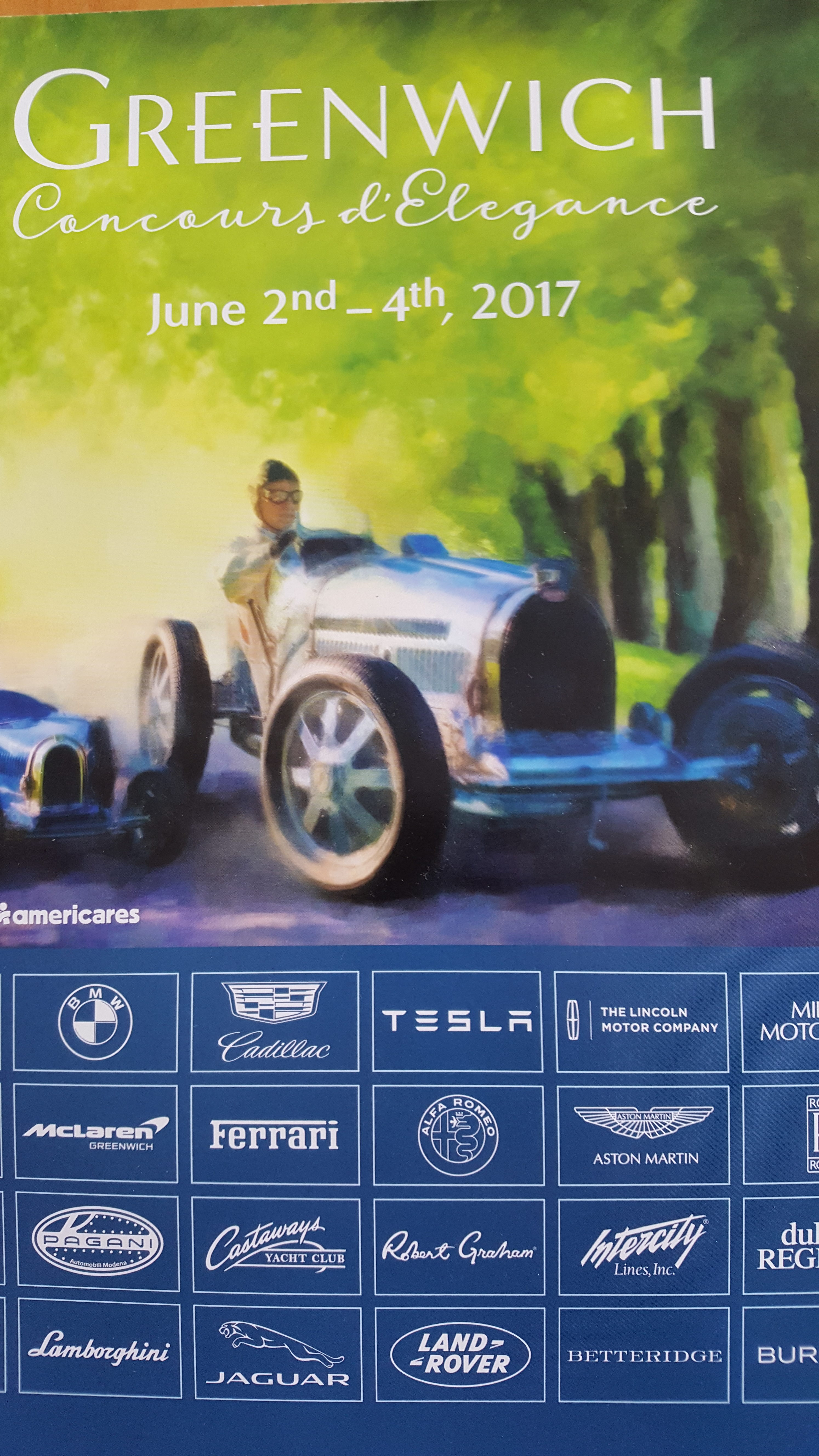 program cover - Greenwich Concours d'Elegance 2017