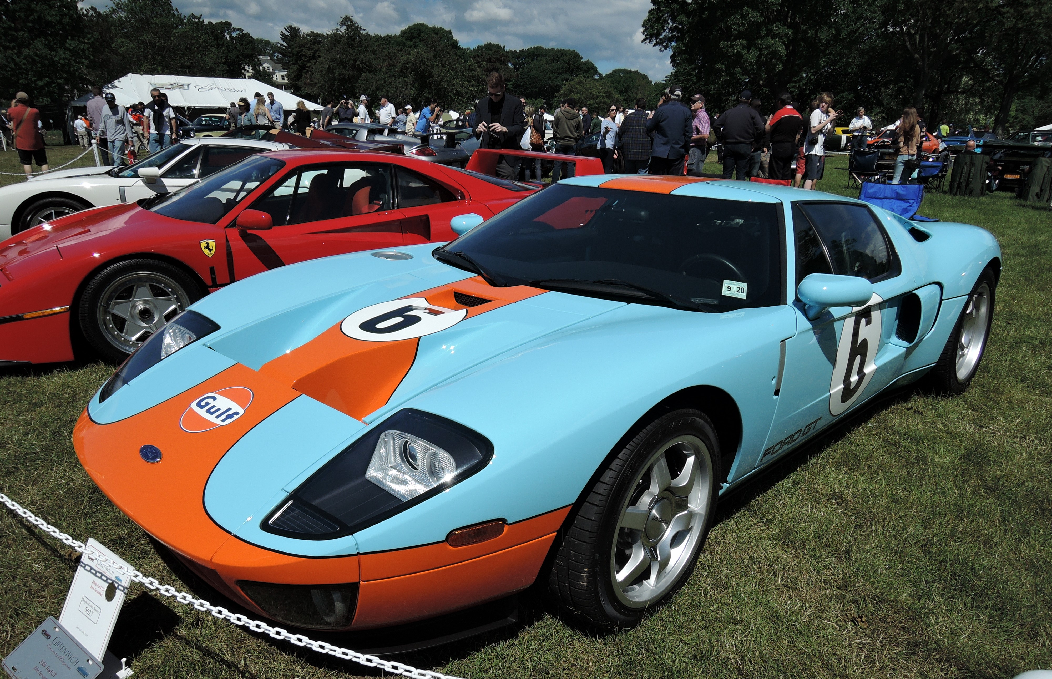 blue/orange Gulf livery - Greenwich Concours d'Elegance 2017