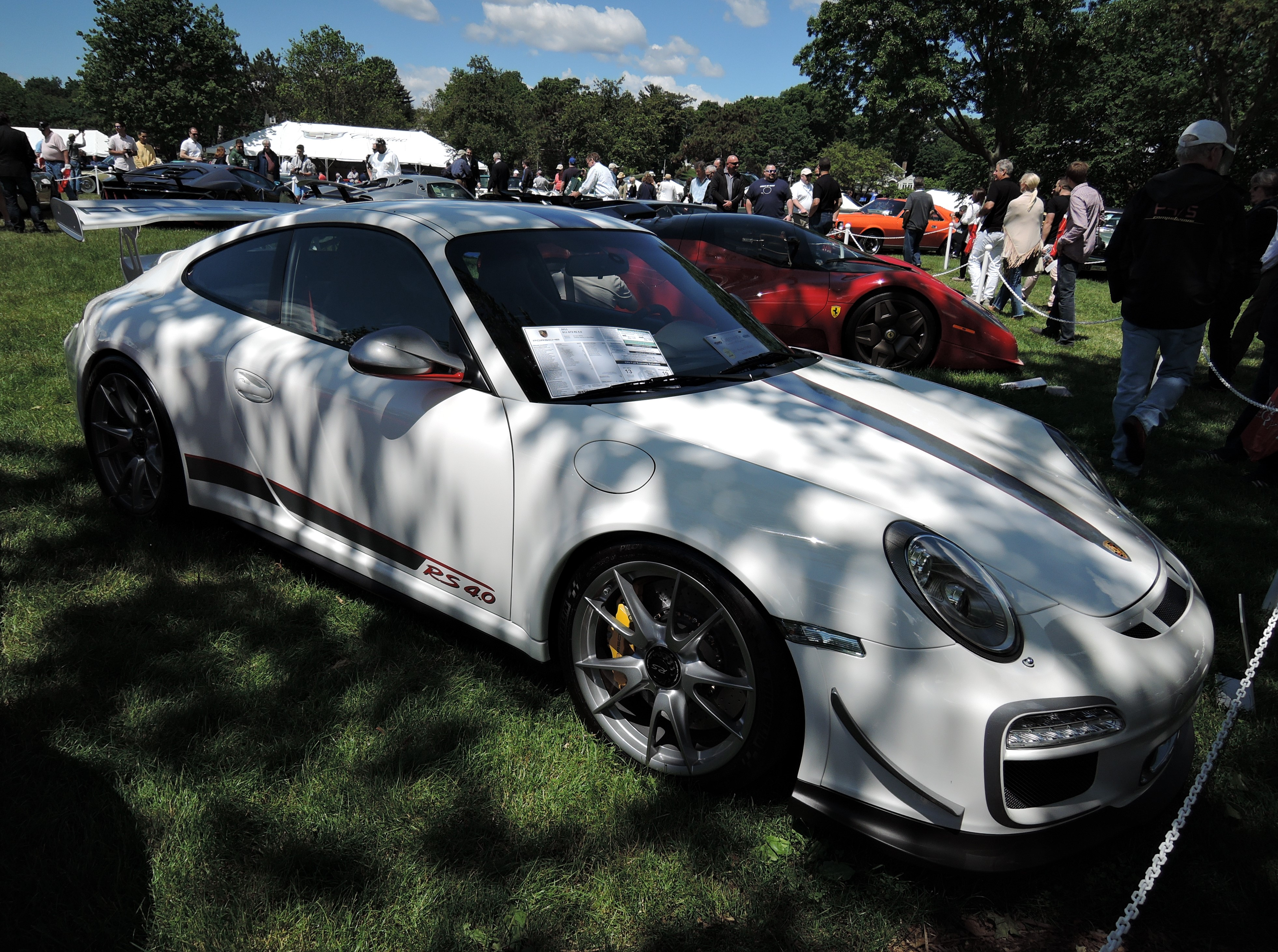 white 2011 Porsche GT3 RS 4.0 - Greenwich Concours d'Elegance 2017