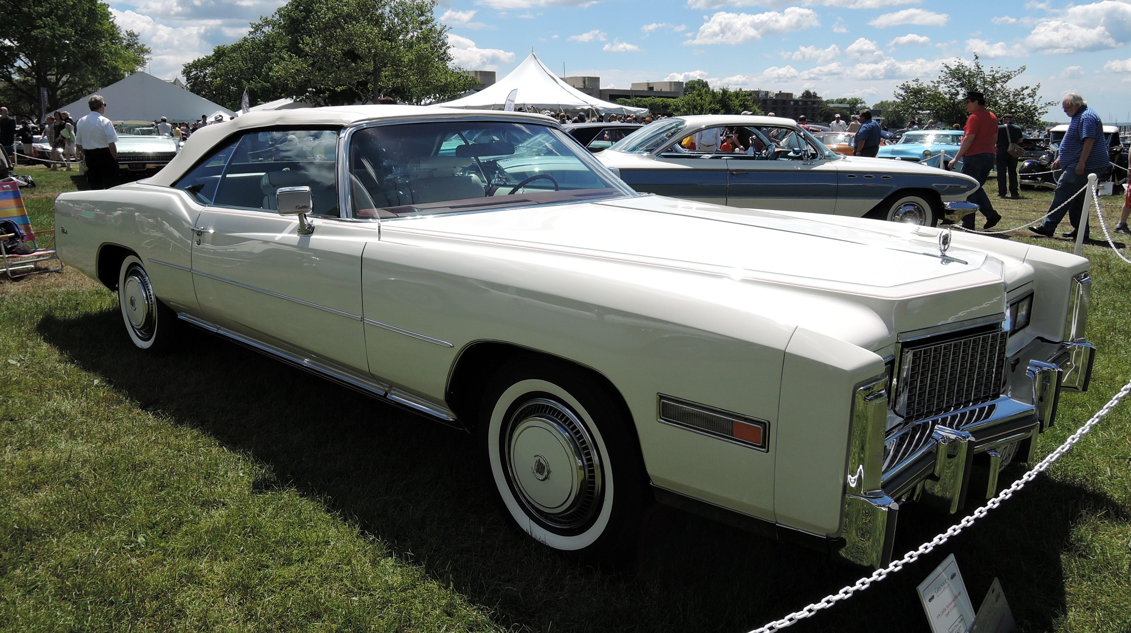 white 1976 Cadillac Bicentennial Eldorado - Greenwich Concours d'Elegance 2017