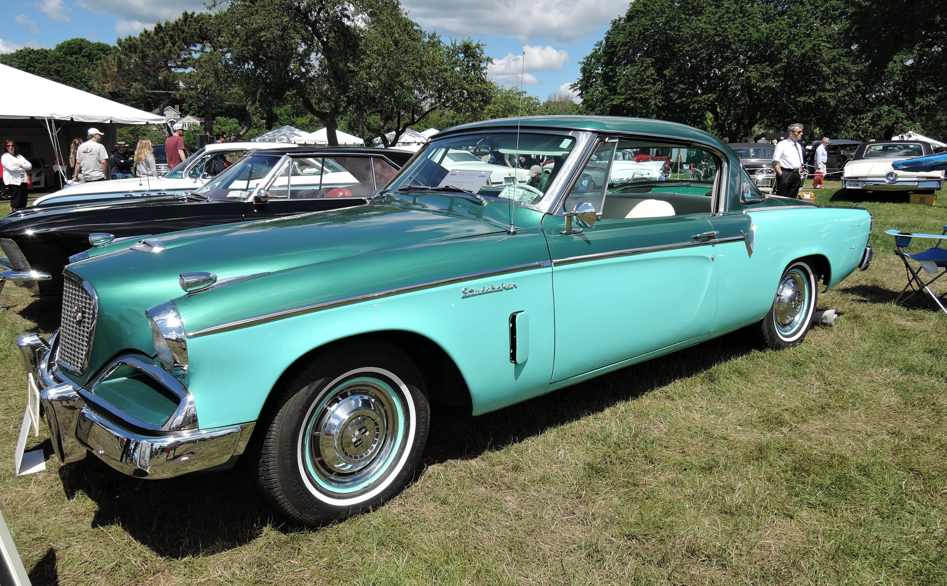 green 1956 Studebaker Sky Hawk - Greenwich Concours d'Elegance 2017