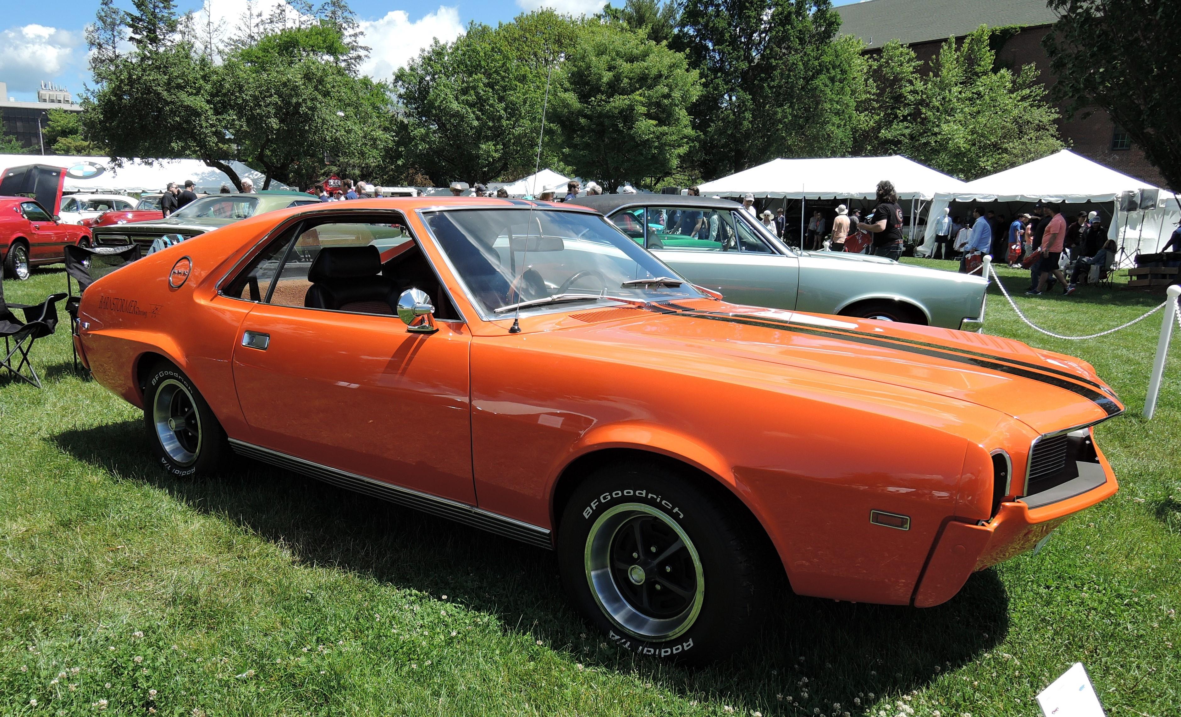 orange 1969 AMC AMX - Greenwich Concours d'Elegance 2017