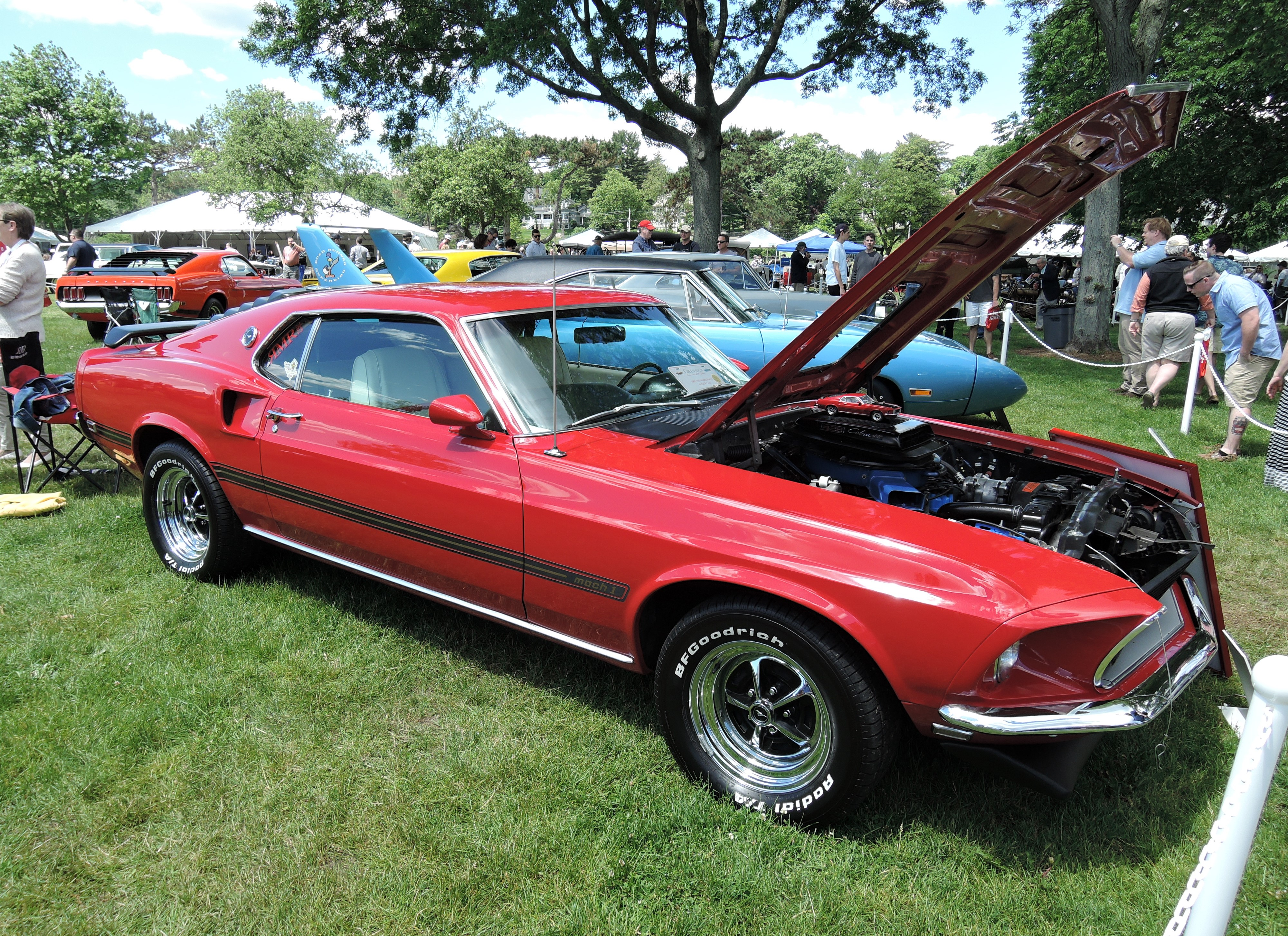 red 1969 Ford Mustang Mach I - Greenwich Concours d'Elegance 2017