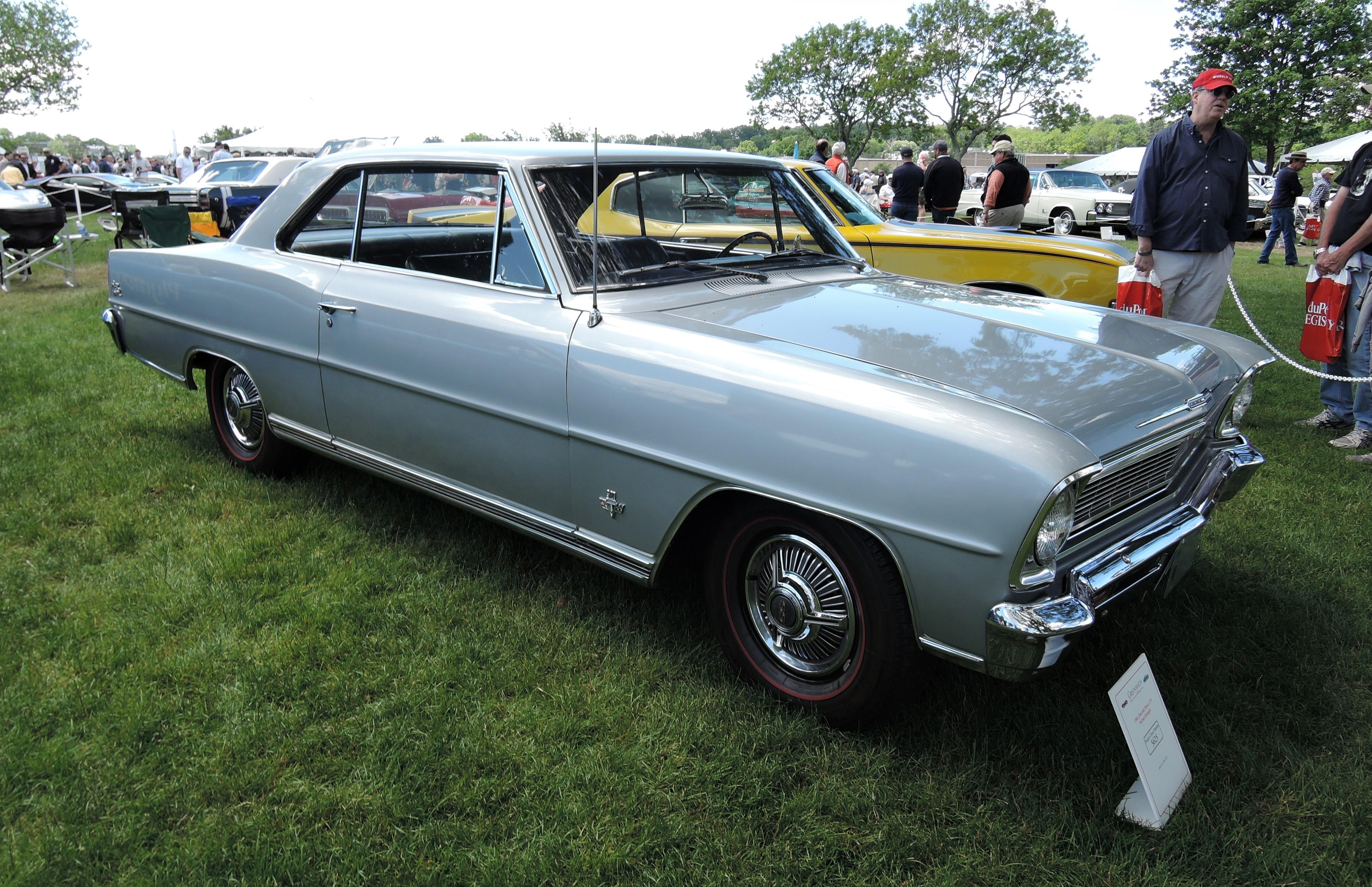 silver 1966 Chevrolet Nova L-79 - Greenwich Concours d'Elegance 2017
