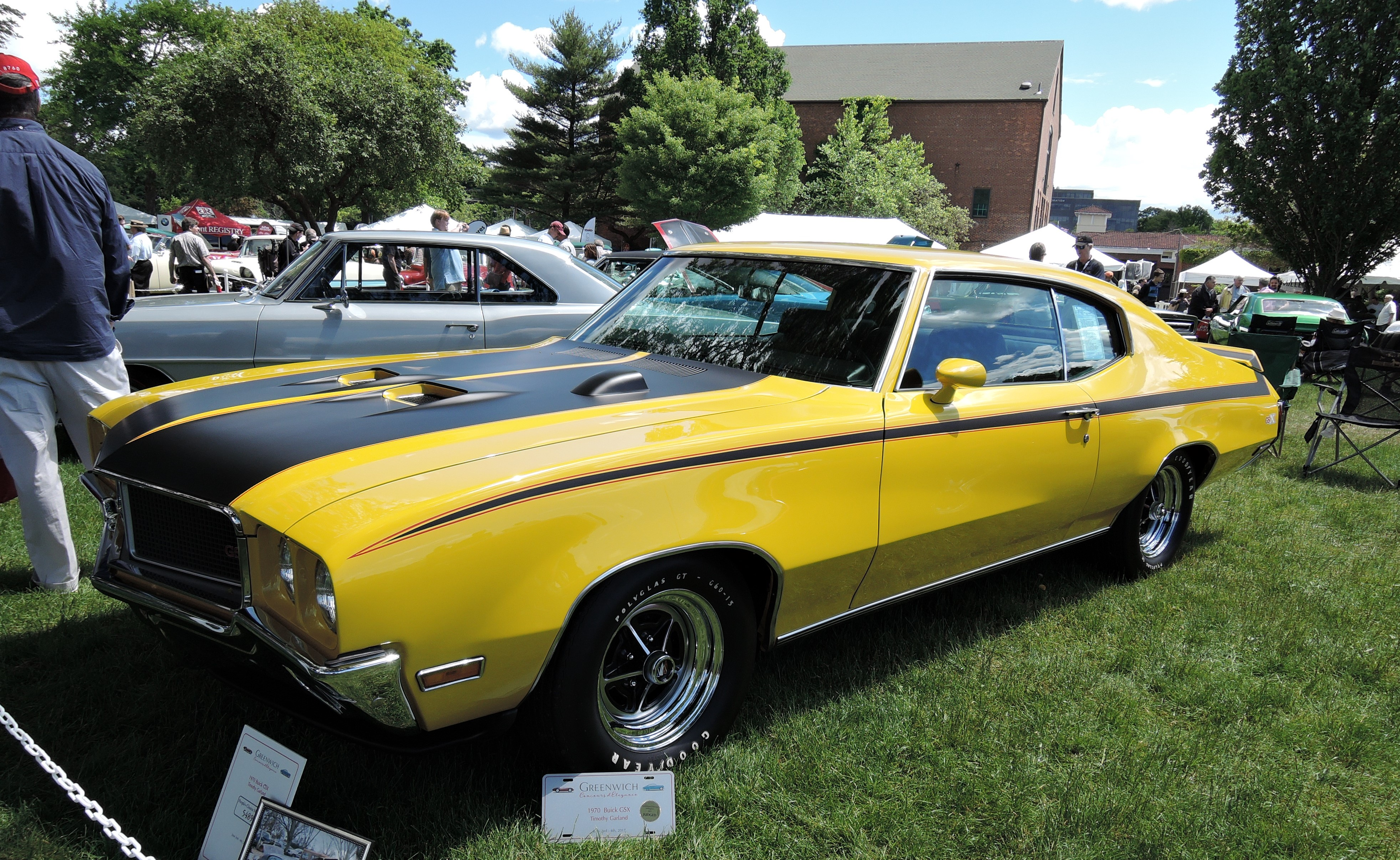 yellow 1970 Buick GSX - Greenwich Concours d'Elegance 2017
