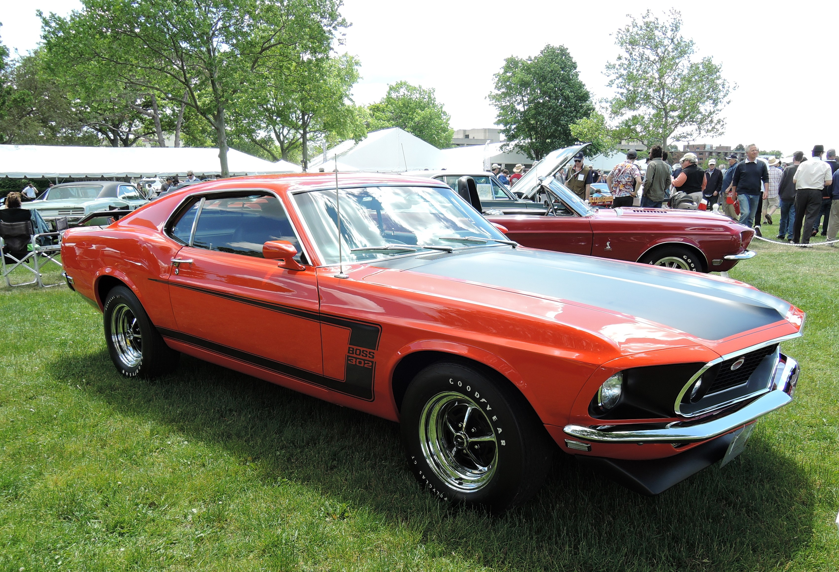 orange 1969 Ford Mustang Boss 302 - Greenwich Concours d'Elegance 2017