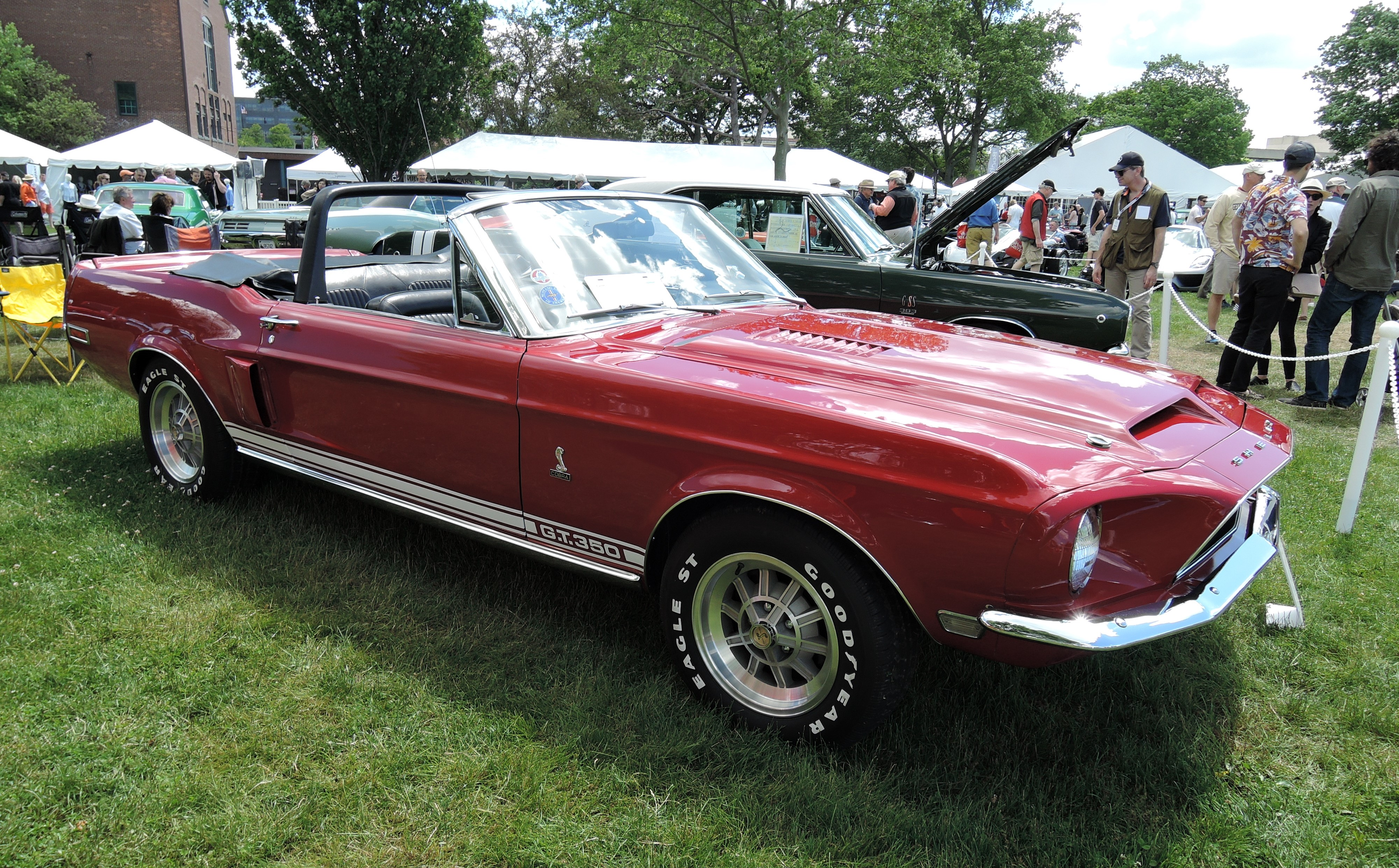 red 1968 Shelby Mustang GT350 - Greenwich Concours d'Elegance 2017
