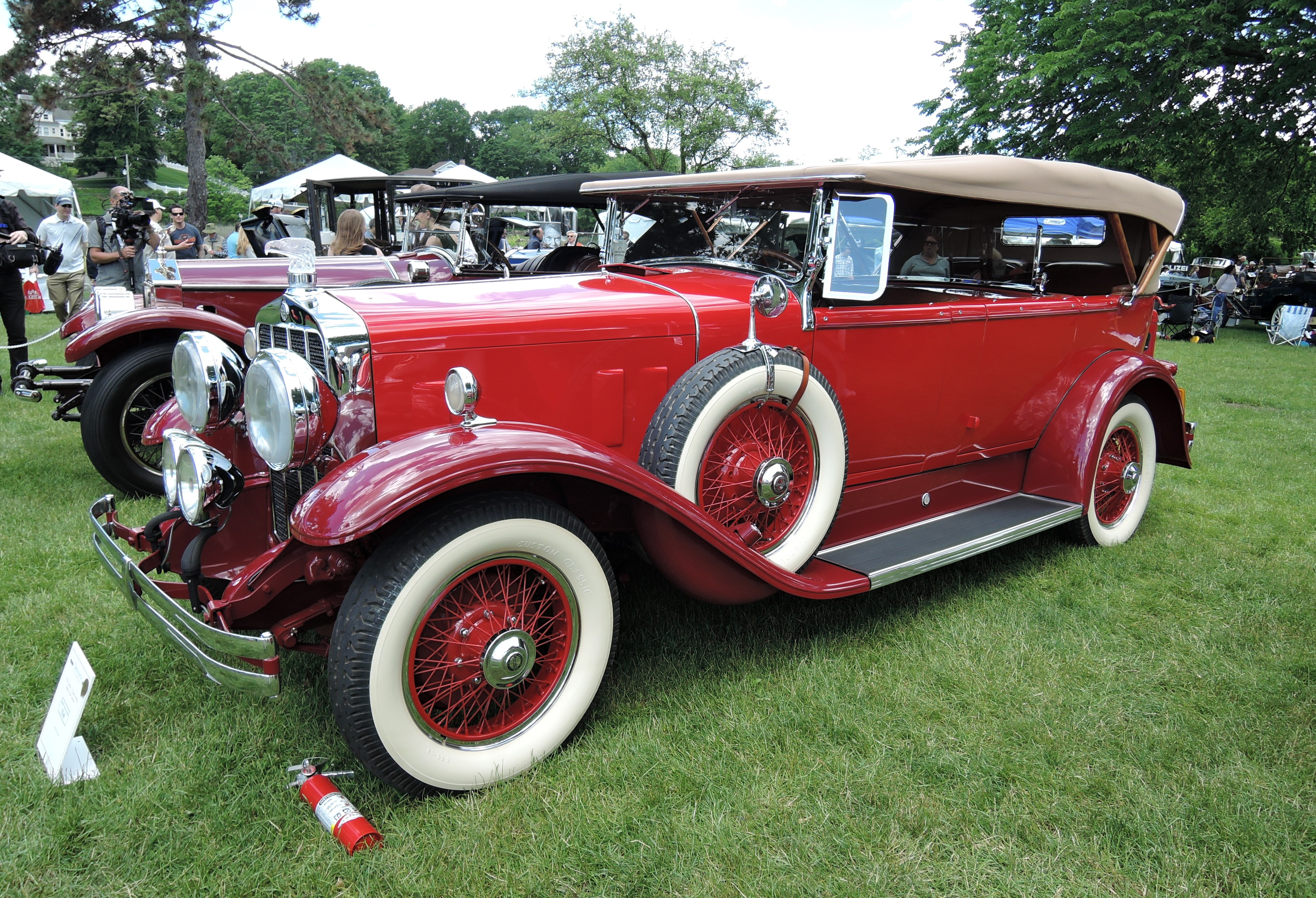 red 1929 Franklin 153 Sport Touring - Greenwich Concours d'Elegance 2017
