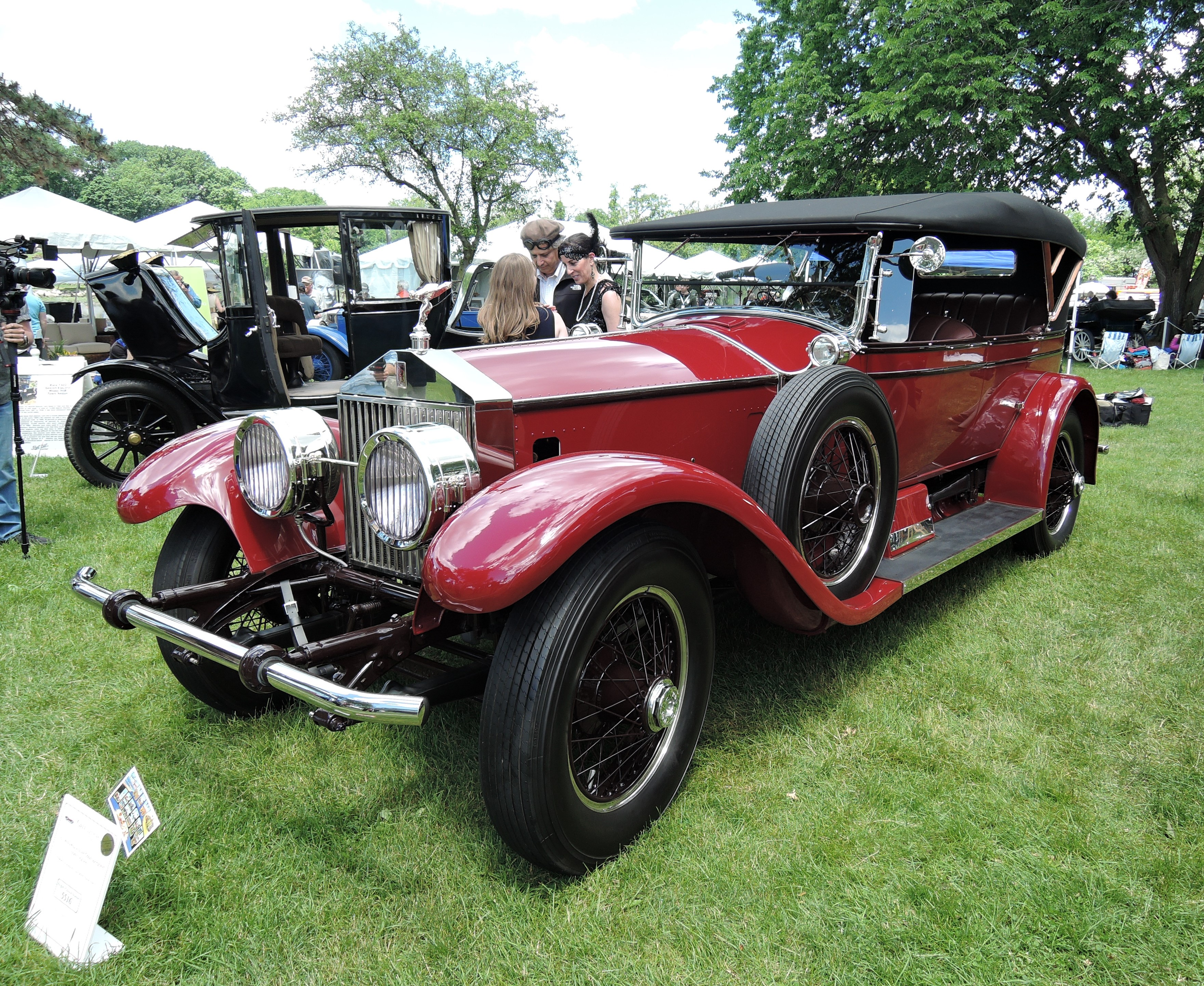 red 1921 Rolls-Royce Silver Ghost Springfield - Greenwich Concours d'Elegance 2017