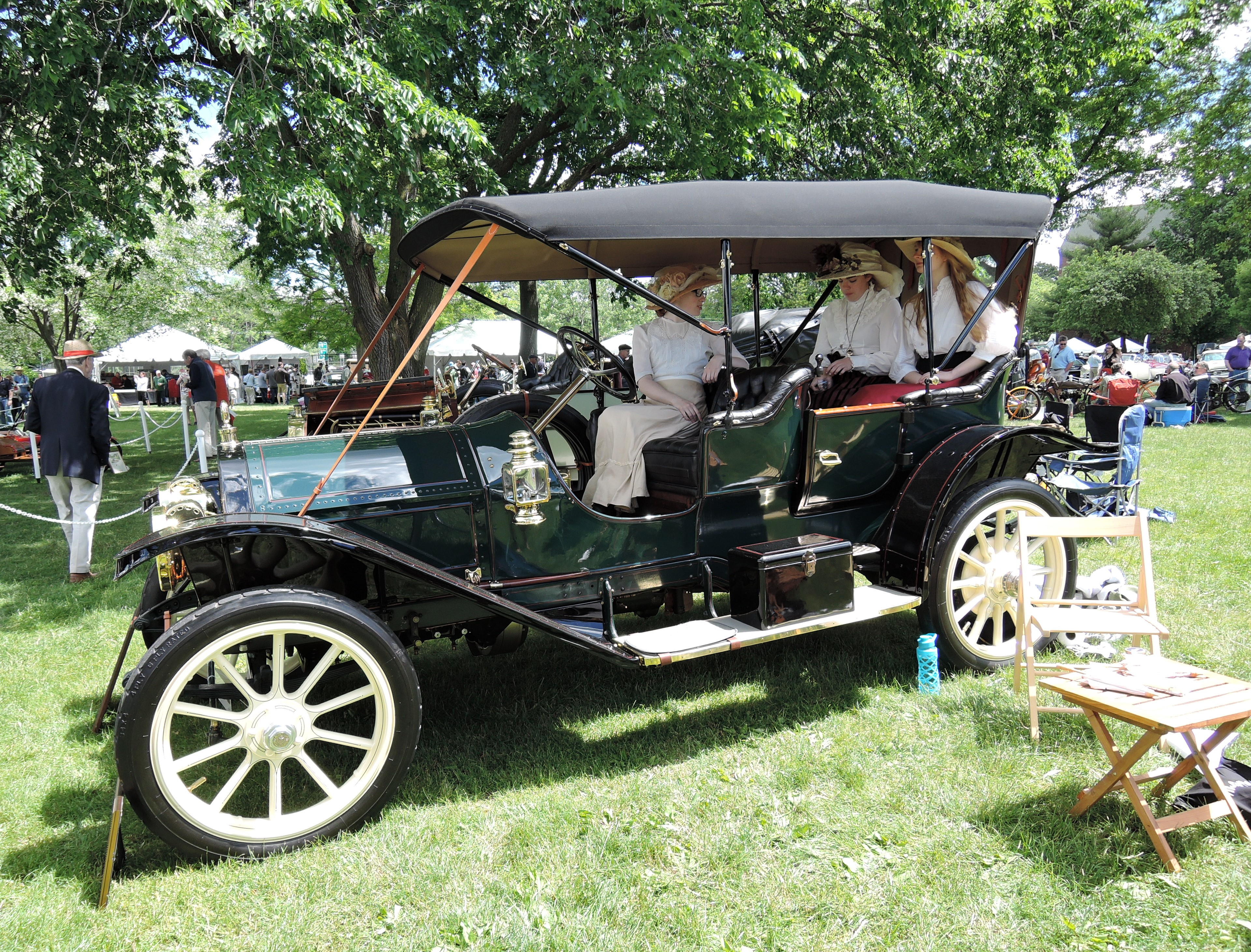 green 1911 Cadillac Model 30 - Greenwich Concours d'Elegance 2017