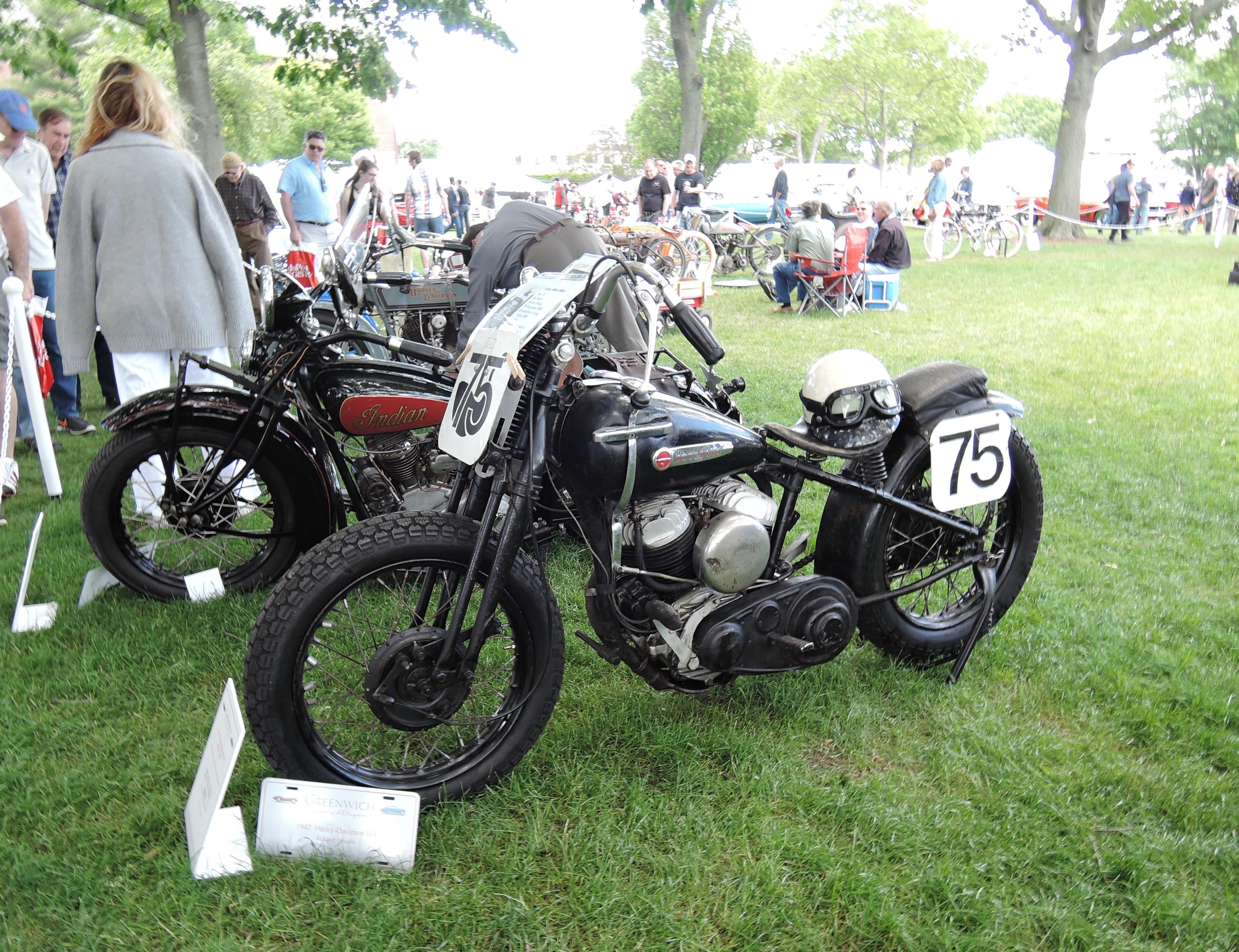 black 1947 Harley-Davidson WR - Greenwich Concours d'Elegance 2017