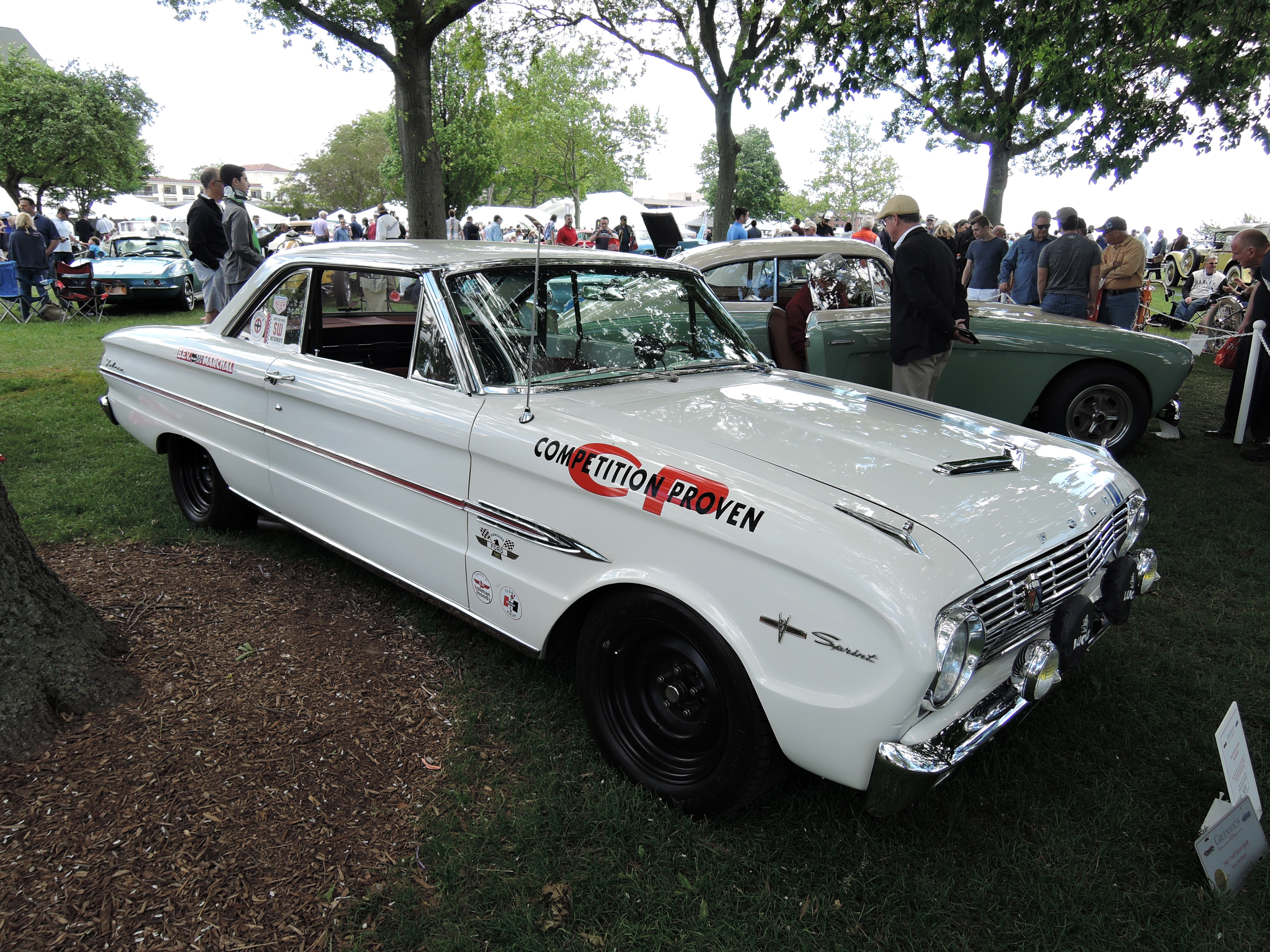white 1963 Ford Falcon Sprint - Greenwich Concours d'Elegance 2017