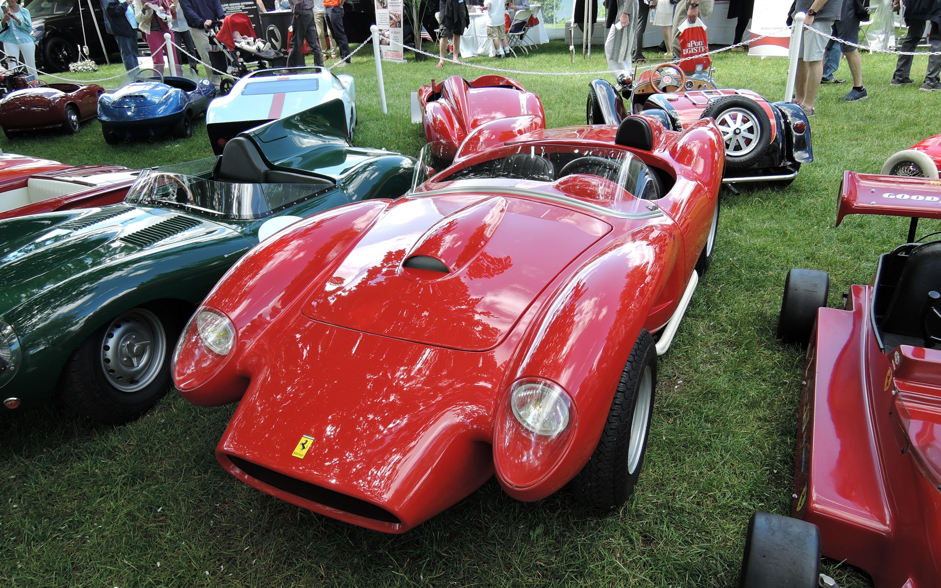 red Ferrari electric toy car - Greenwich Concours d'Elegance 2017