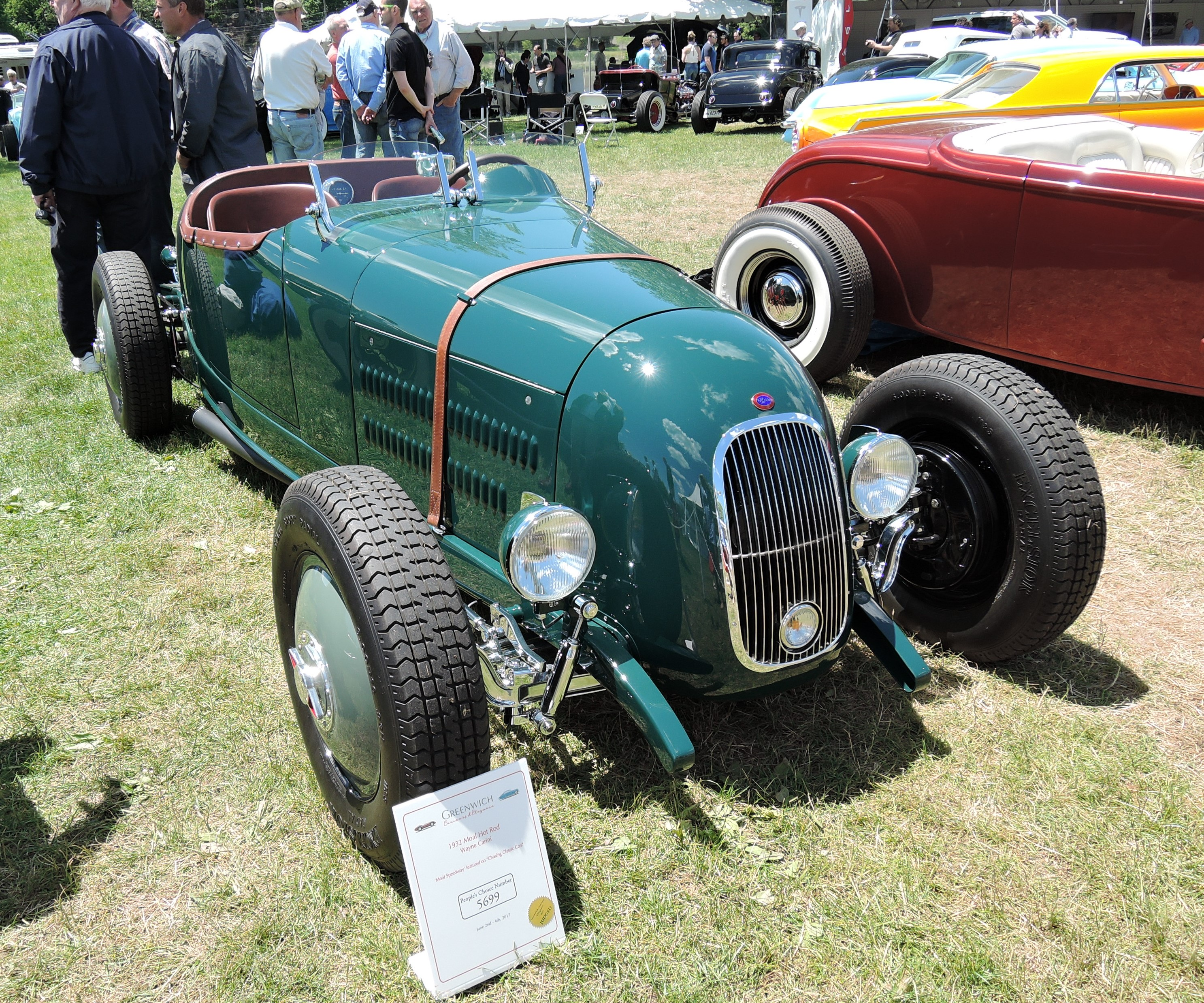 green 1932 Moal Hot Rod - Greenwich Concours d'Elegance 2017