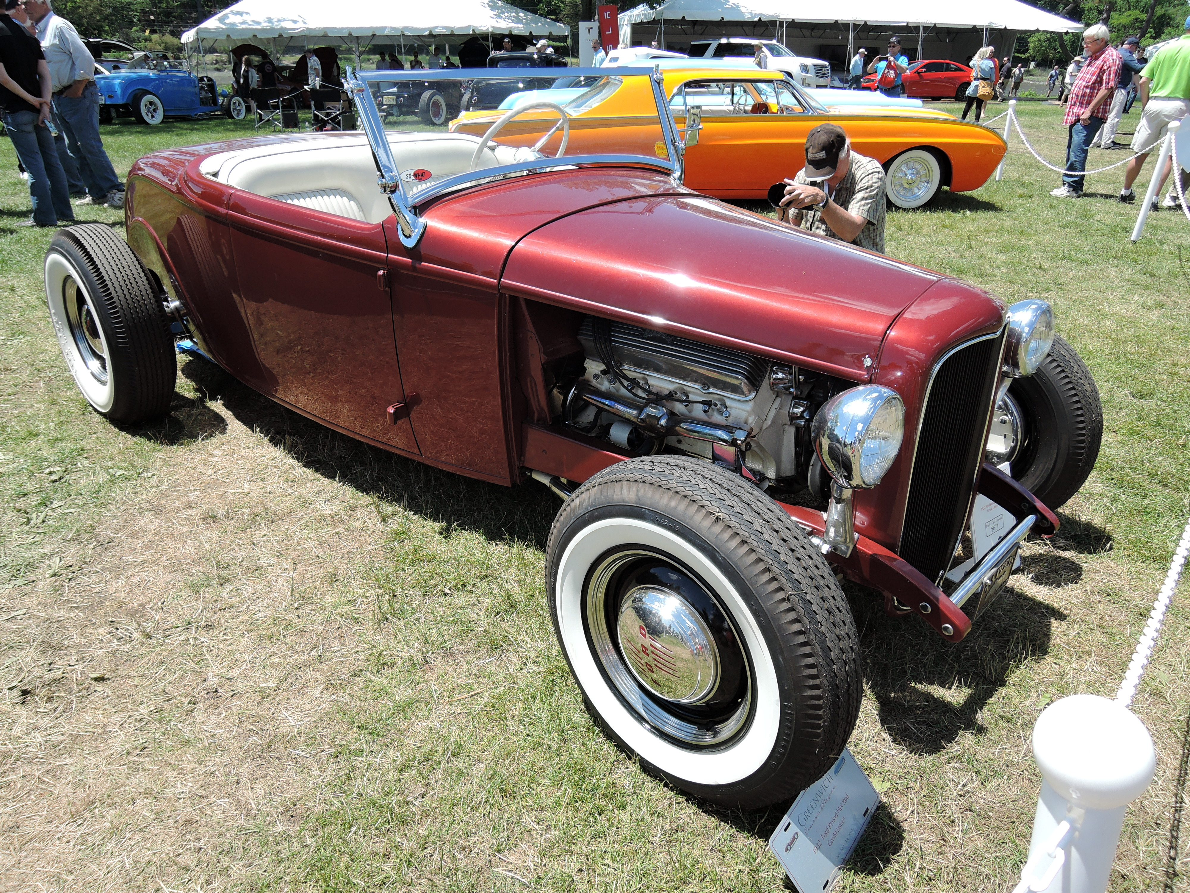 red 1932 Ford Period Hot Rod - Greenwich Concours d'Elegance 2017