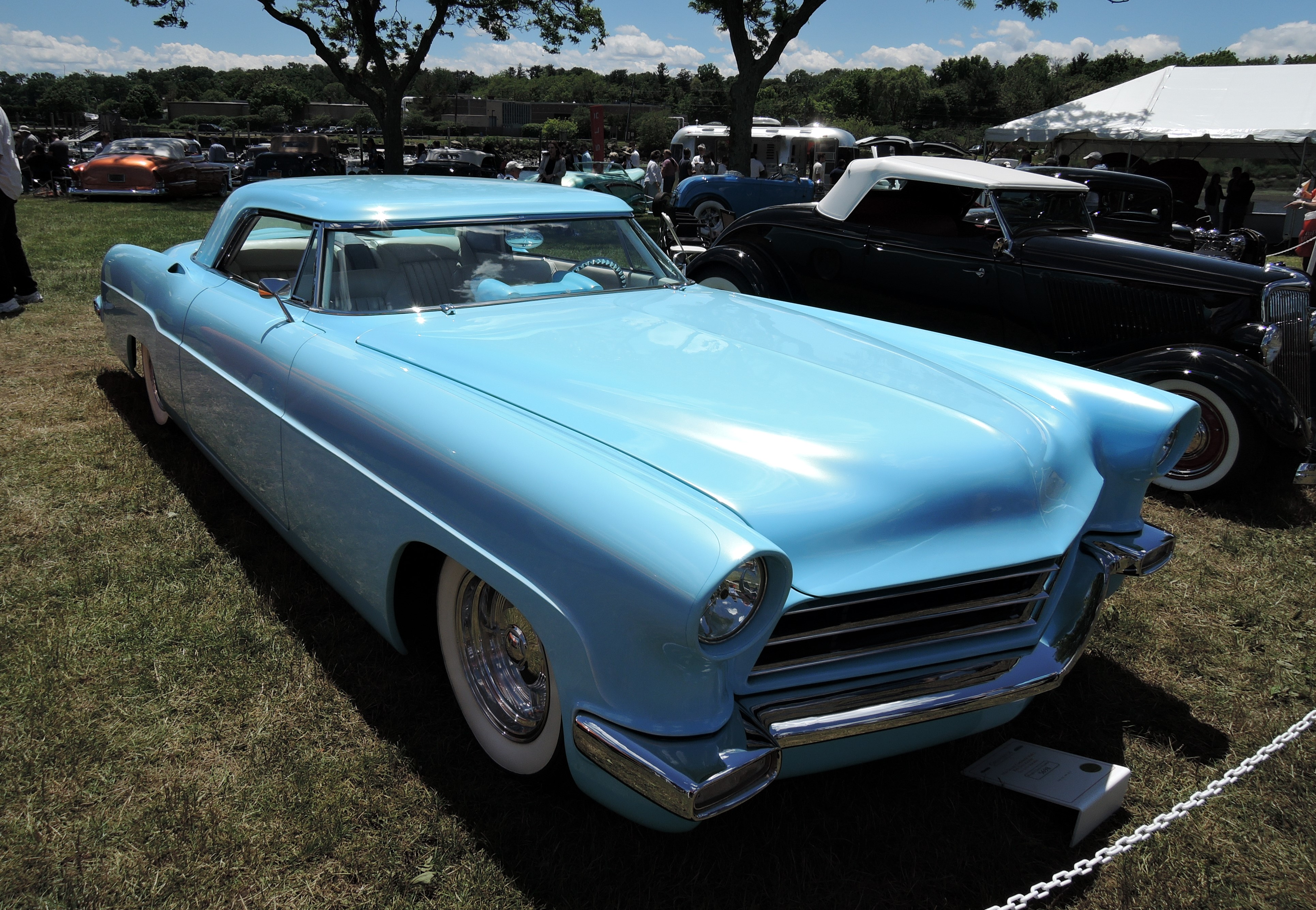 blue 1956 Lincoln Continental Mark II Rick Dore Kustom - Greenwich Concours d'Elegance 2017